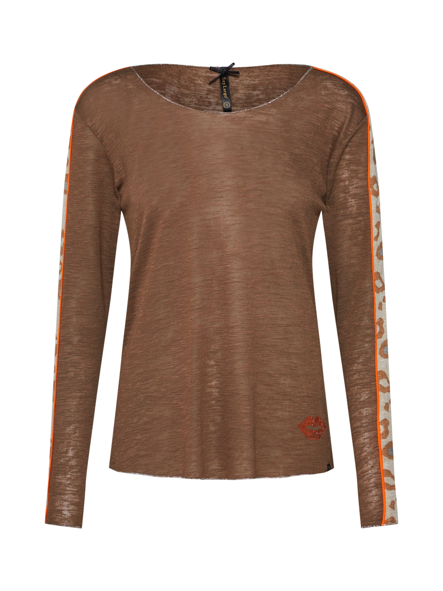 Tričko ISA béžová hnědá mokka Key Largo