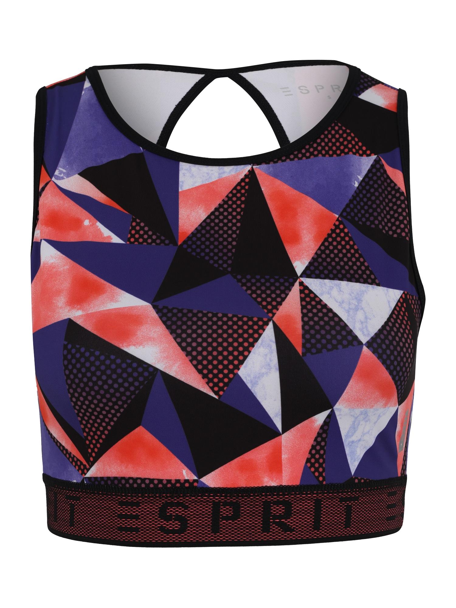 Sportovní podprsenka modrá oranžově červená černá ESPRIT SPORTS