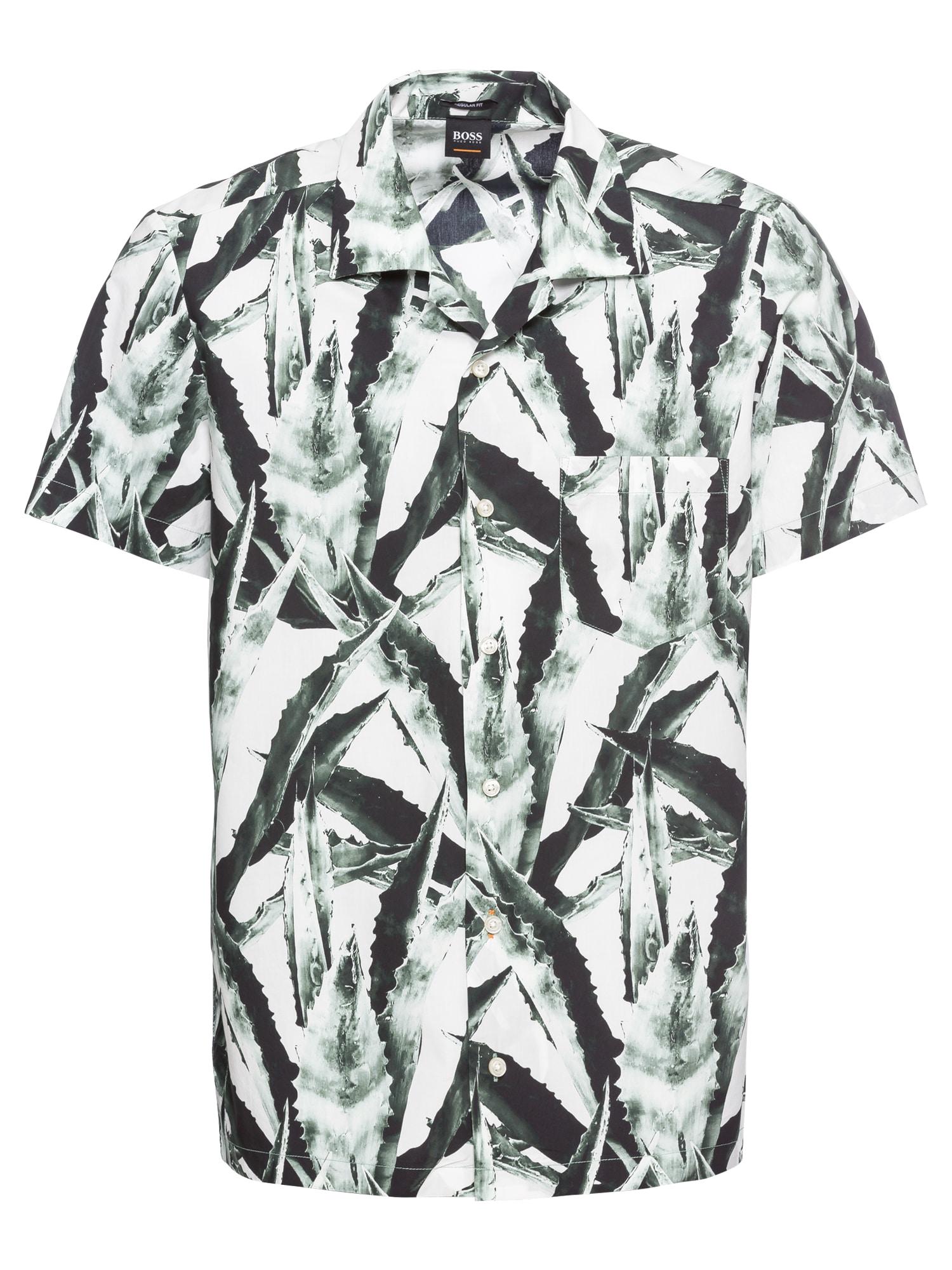 Košile Rhythm 10214147 01 tmavě zelená BOSS