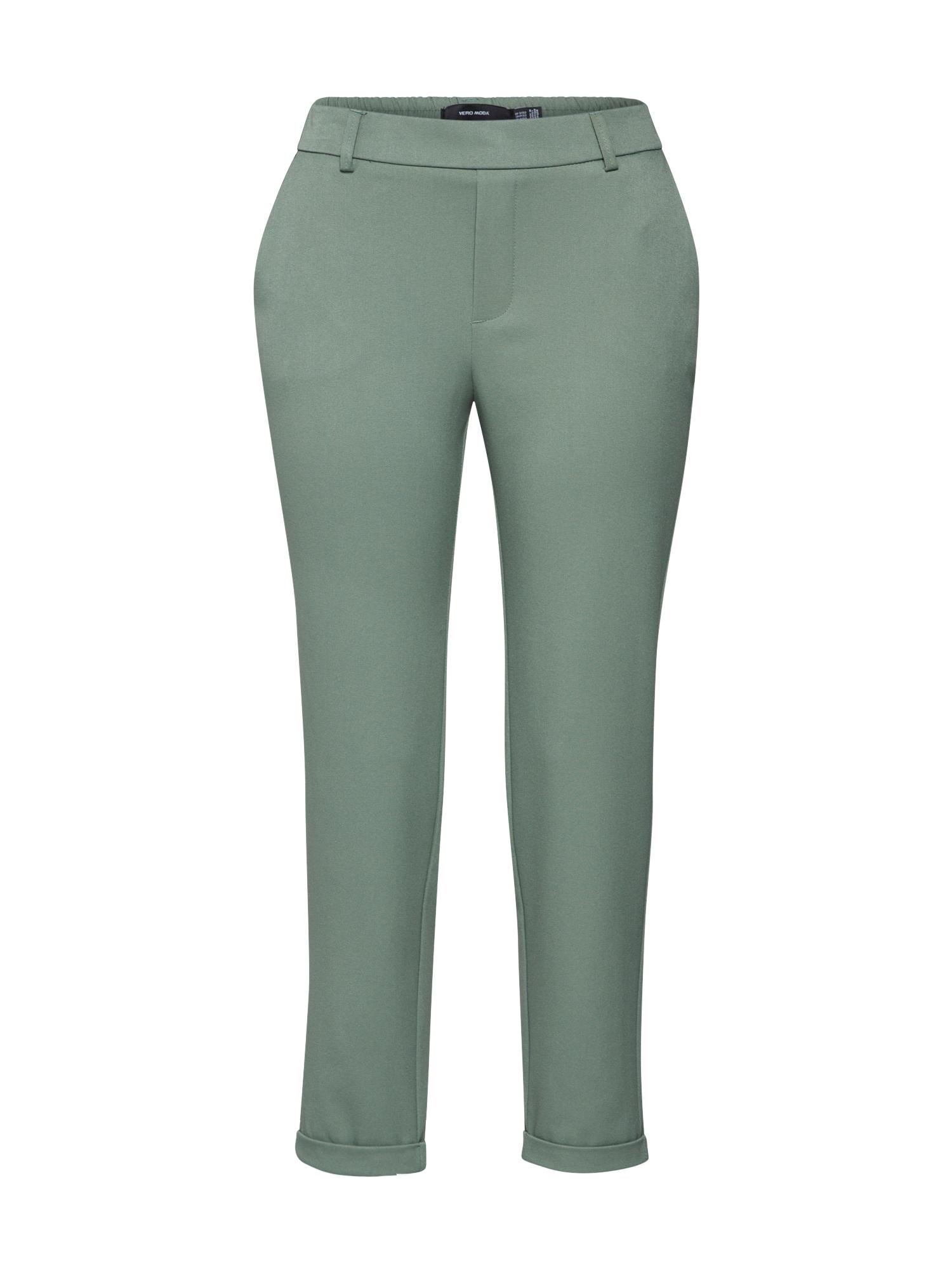 VERO MODA Chino nohavice  zelená