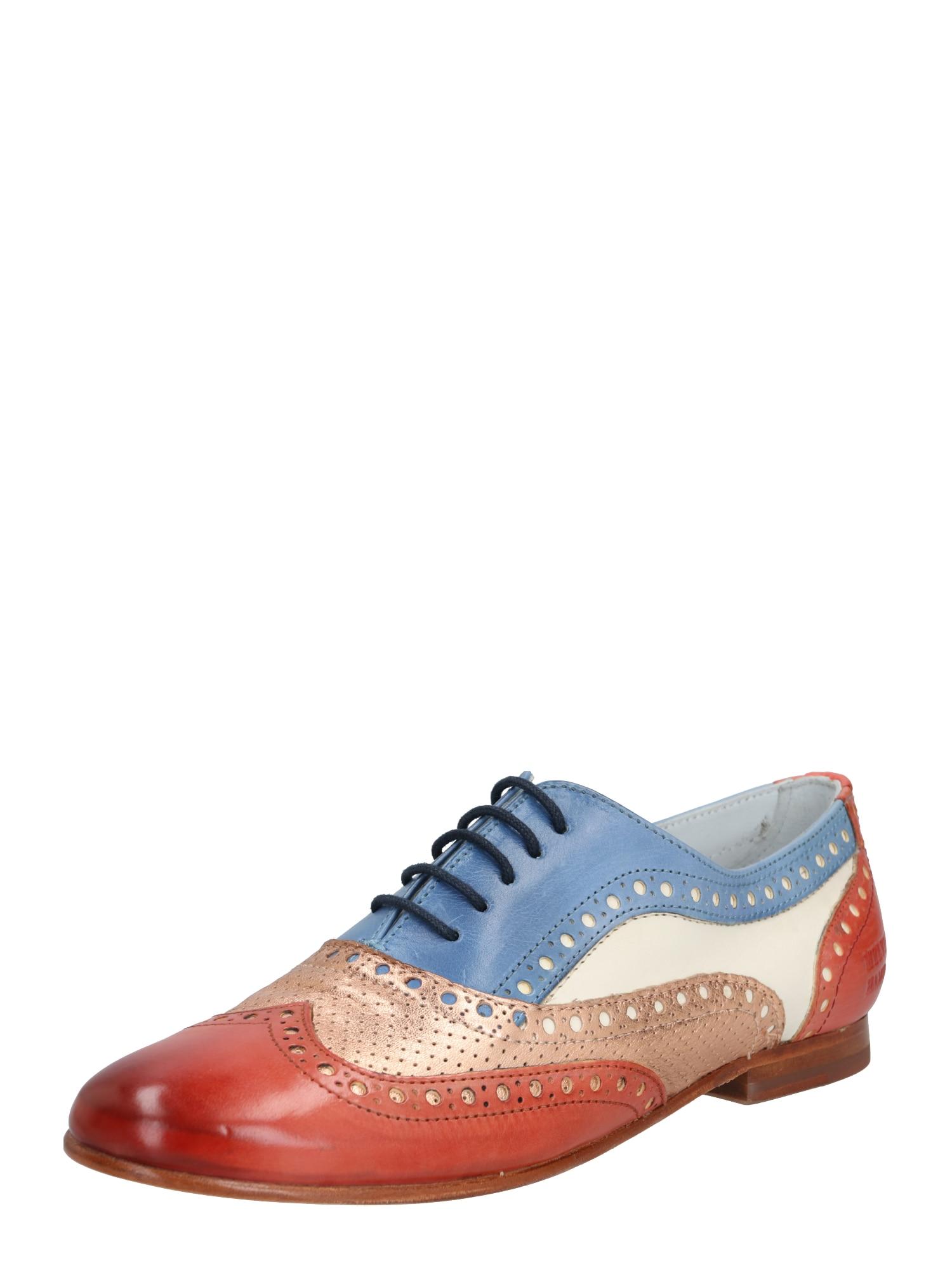 MELVIN & HAMILTON Batai su raišteliais 'Sonia 1' mišrios spalvos / ruda (konjako) / mėlyna