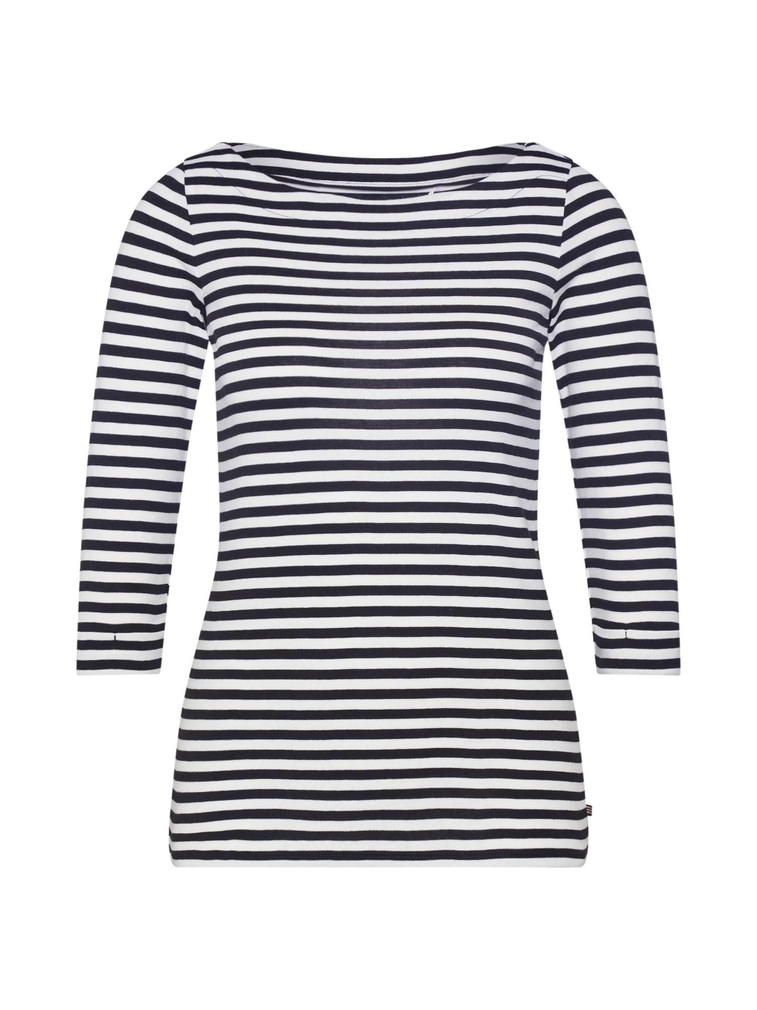 ESPRIT Marškinėliai 'NOOS' juoda / balta