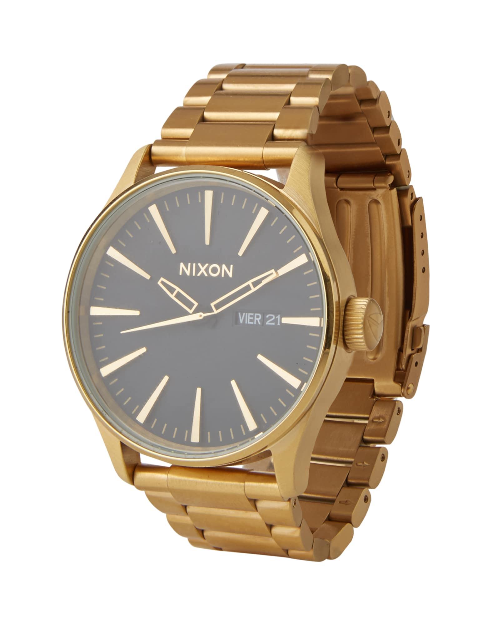 Analogové hodinky Sentry SS zlatá černá Nixon