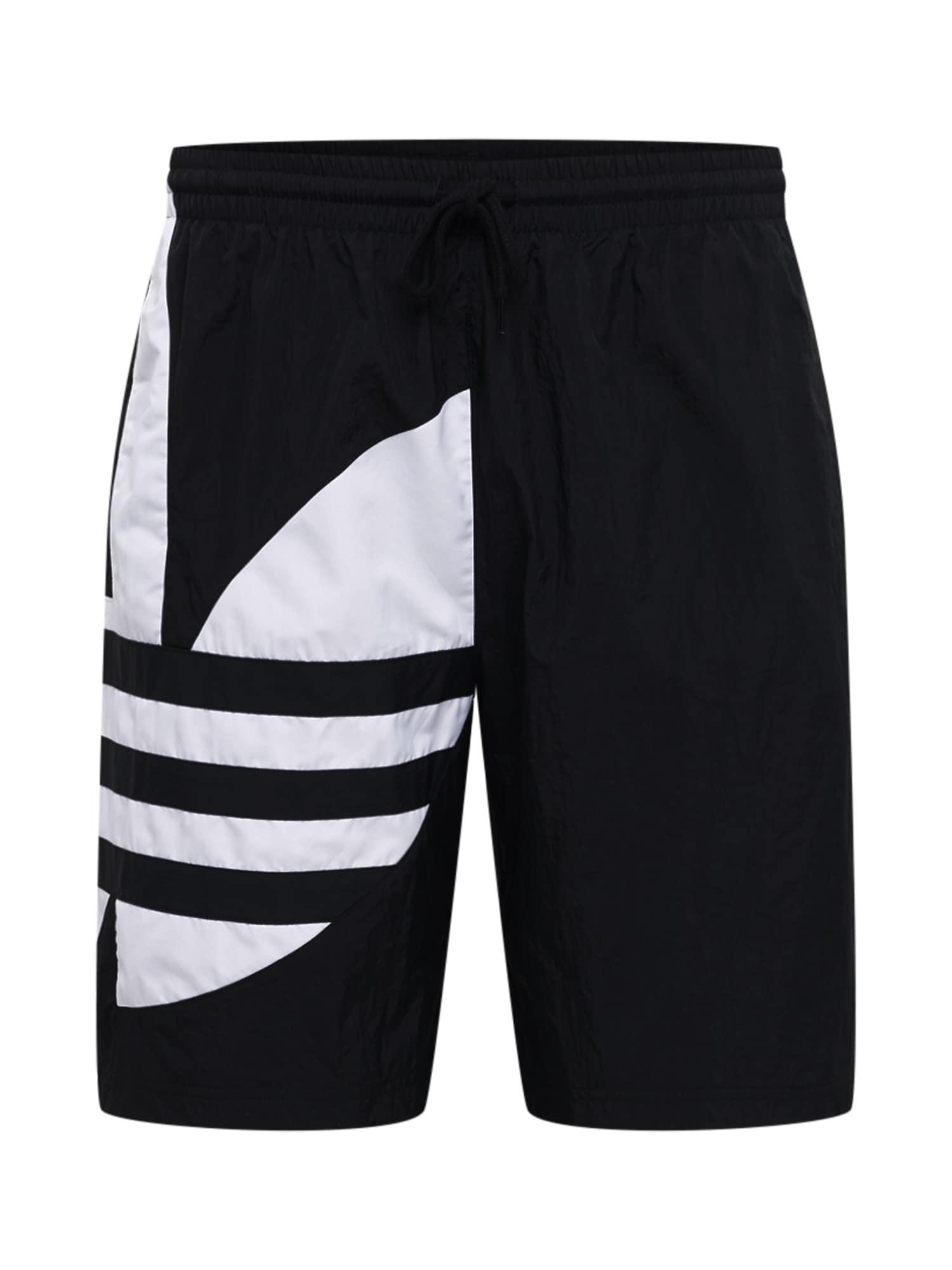 ADIDAS ORIGINALS Kelnės 'Big Trefoil' juoda / balta
