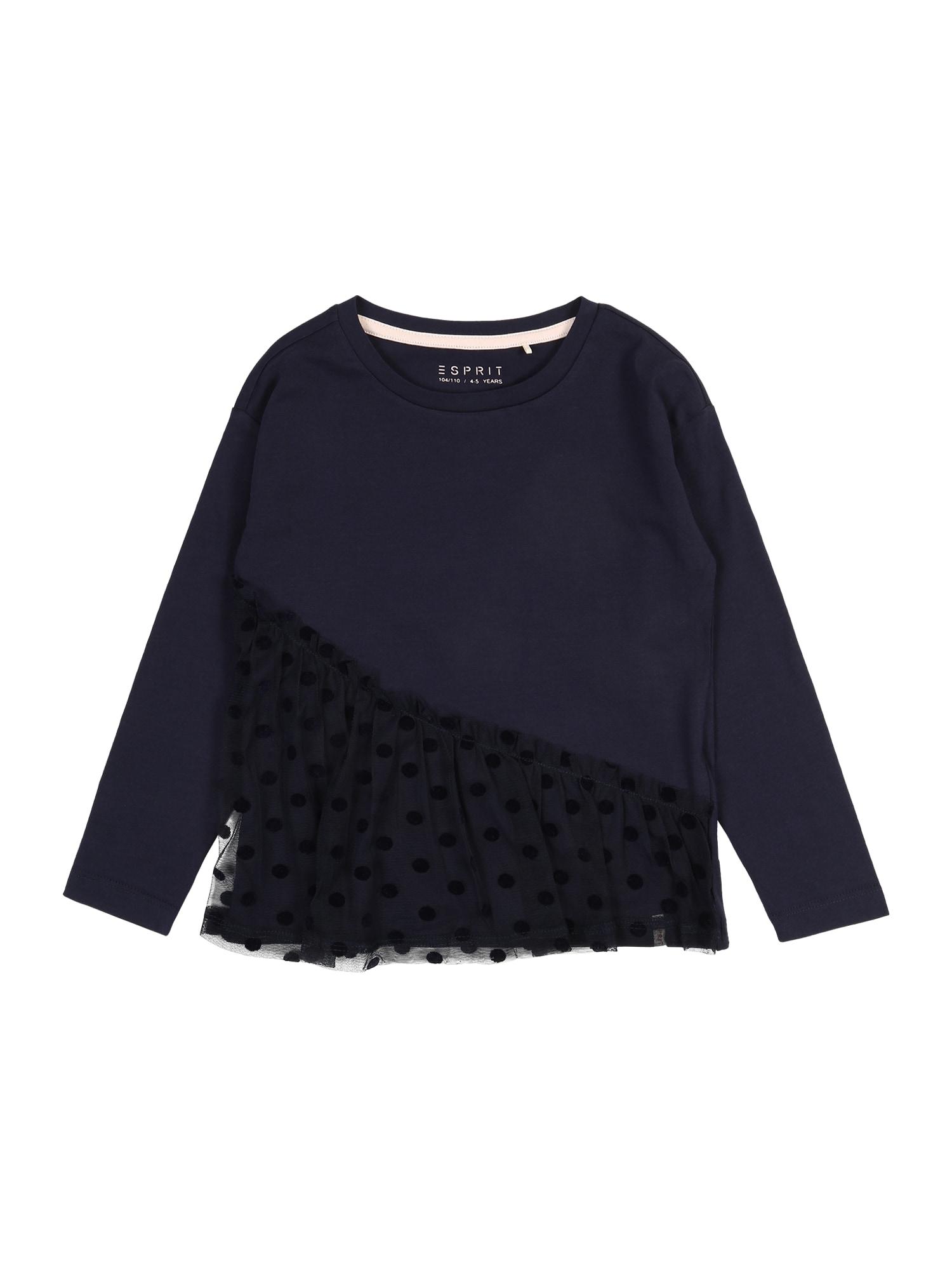 ESPRIT Marškinėliai 'TEE-SHIRT' tamsiai mėlyna