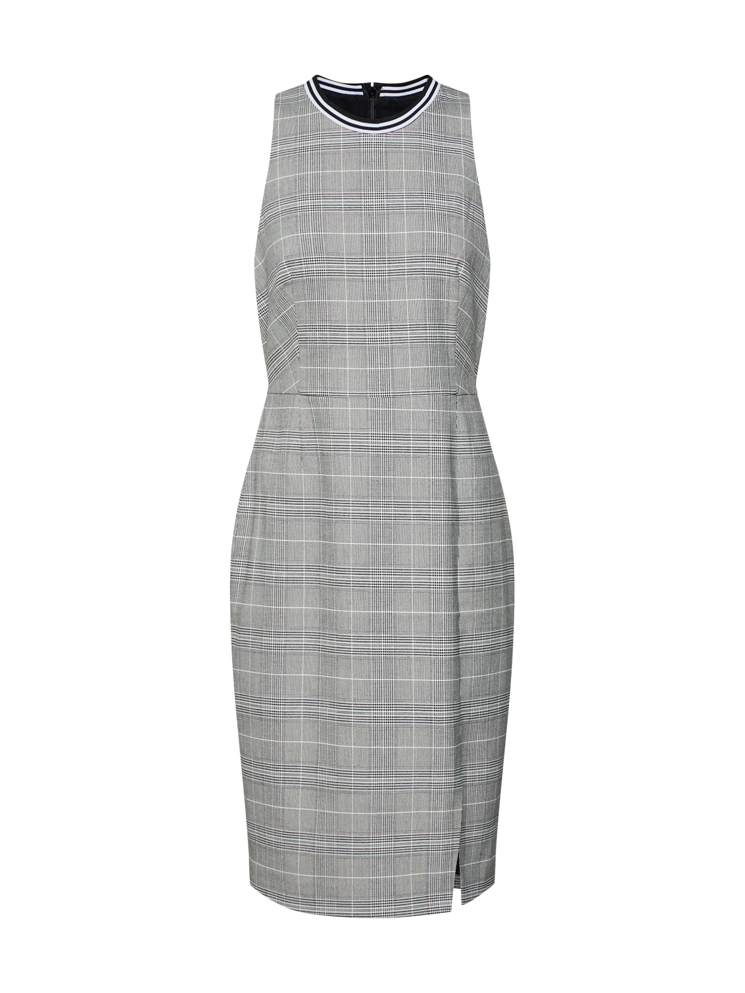 Pouzdrové šaty SL RIB TRIM SHEATH DRESS PLAID šedá Banana Republic