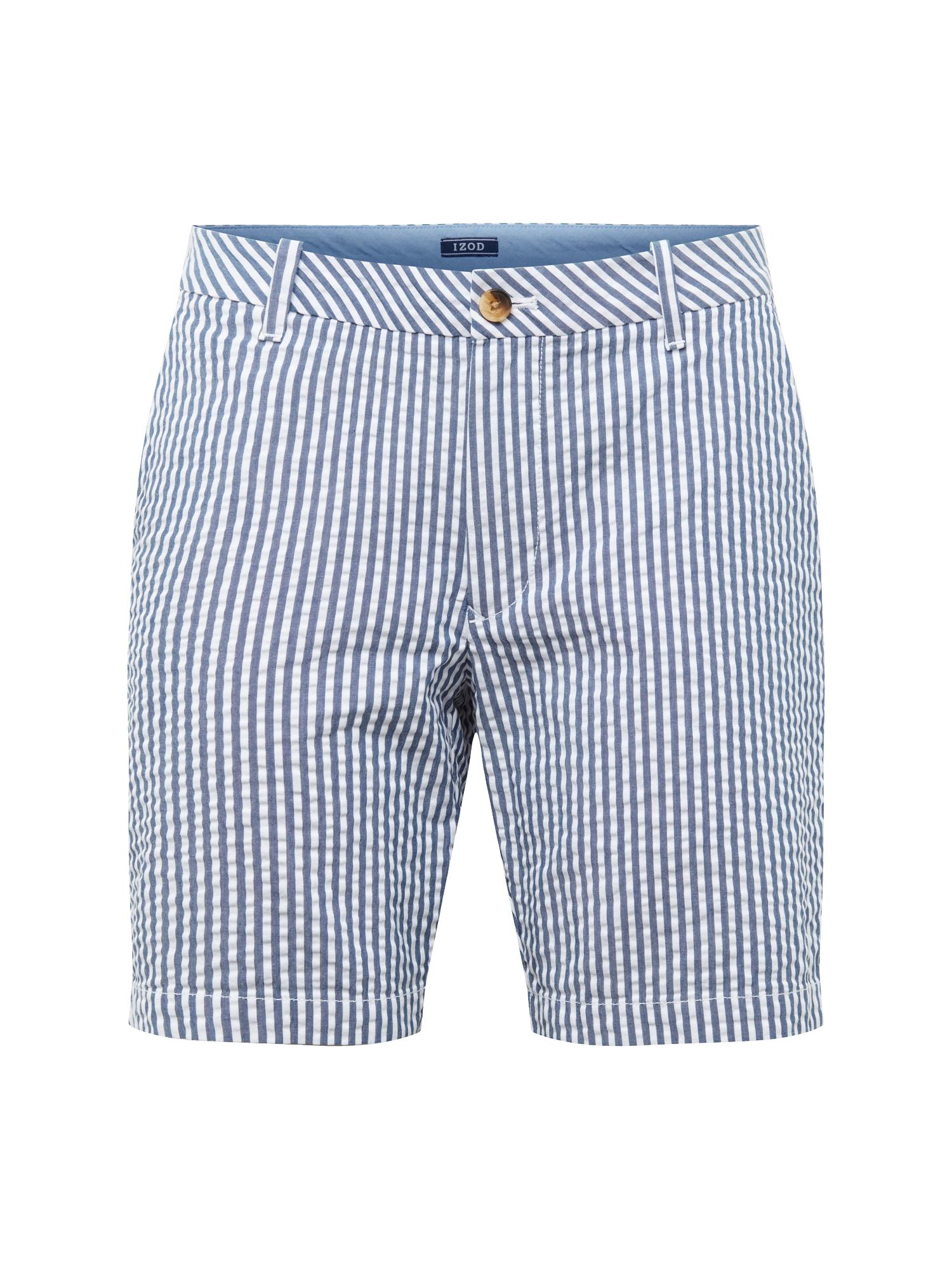 Kalhoty BREEZE SEERSUCKER STRIPE SHORT námořnická modř bílá IZOD