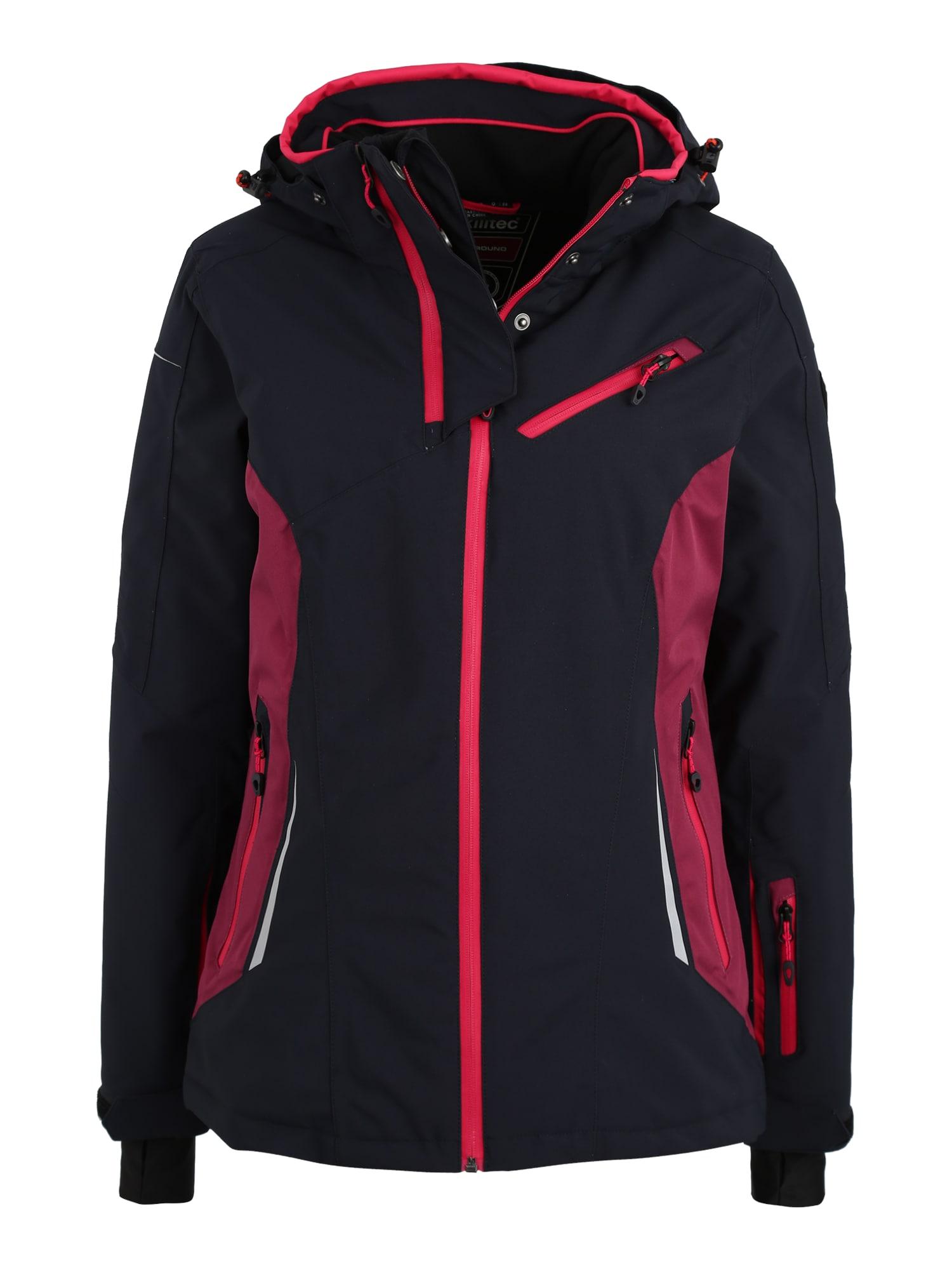 Outdoorová bunda Erlya noční modrá tmavě růžová KILLTEC