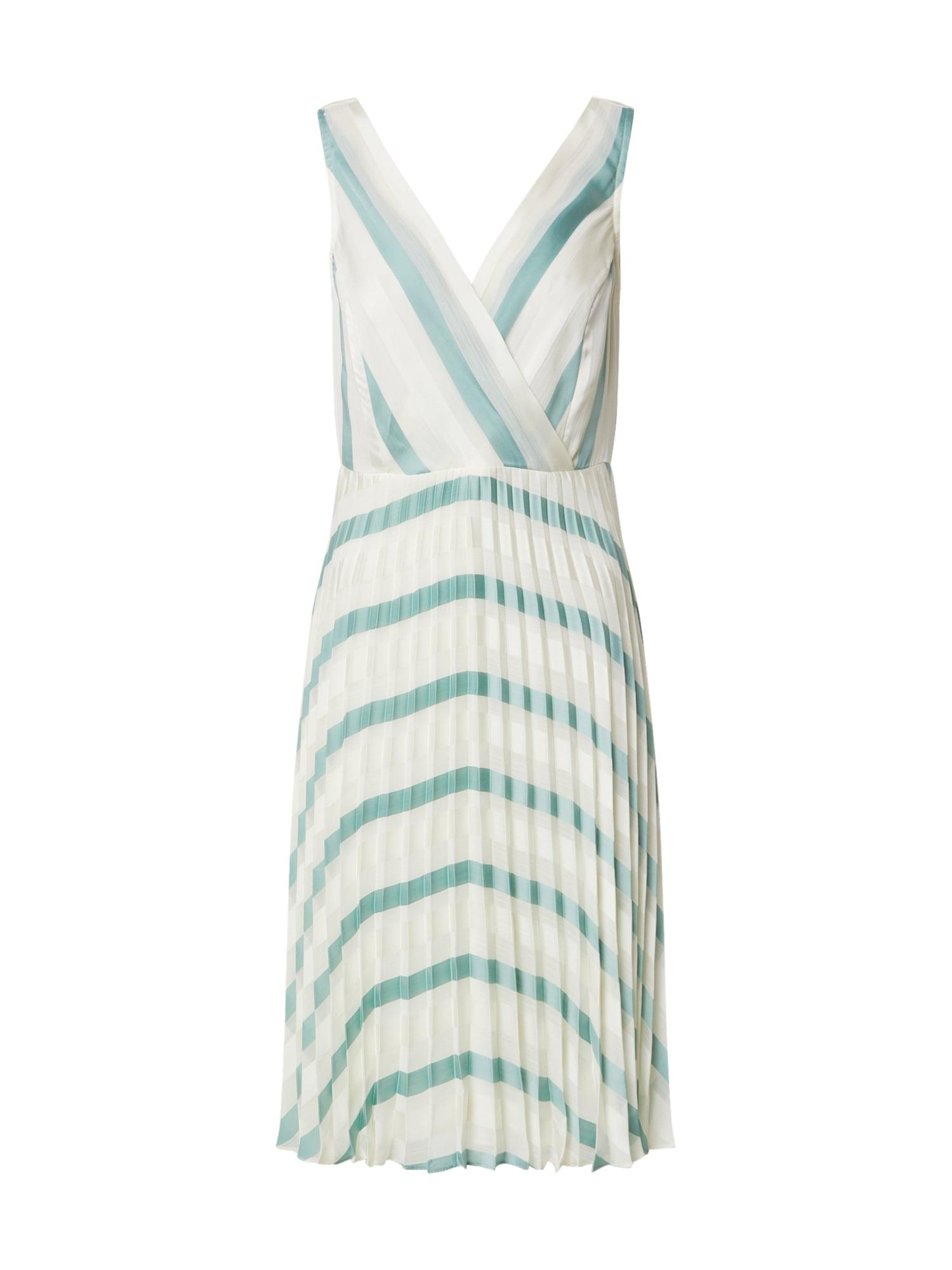 Dorothy Perkins Letné šaty 'LUXE'  biela / mätová
