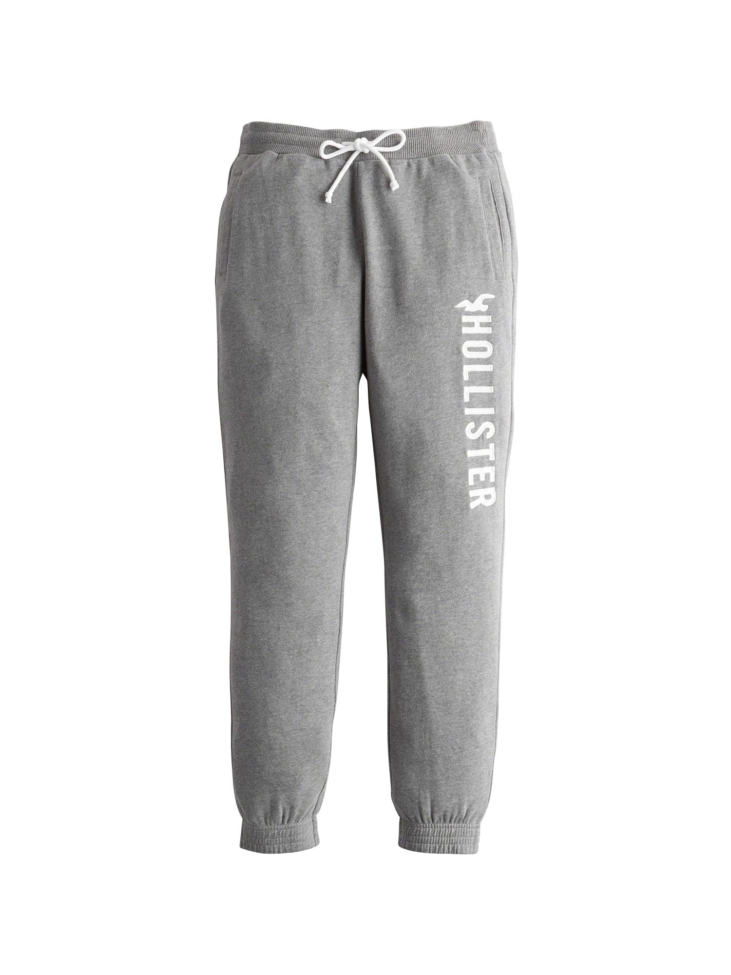 Kalhoty šedý melír bílá HOLLISTER