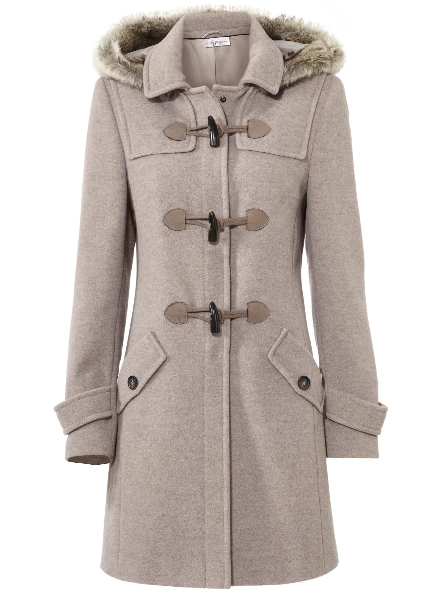 heine Žieminis paltas rausvai pilka