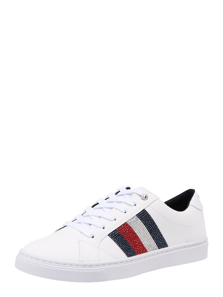 Sneakers für Frauen - Sneaker 'CRYSTAL LEATHER CASUAL SNEAKER' › Tommy Hilfiger › weiß  - Onlineshop ABOUT YOU