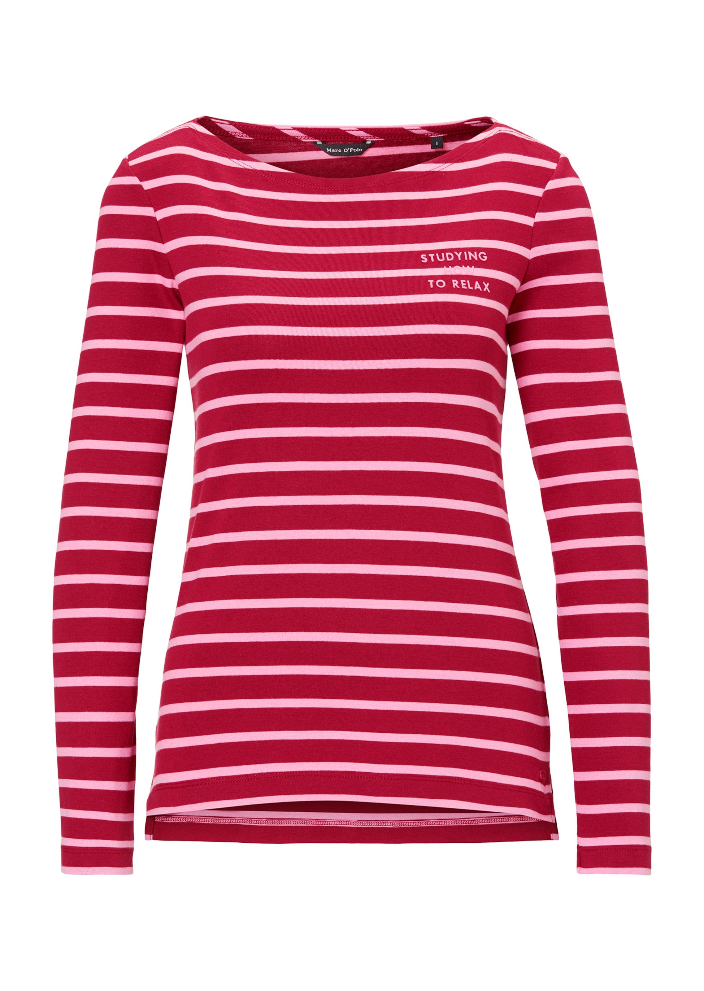 Damen Marc O'Polo Shirt blau, rot,  weiß | 07325864485415
