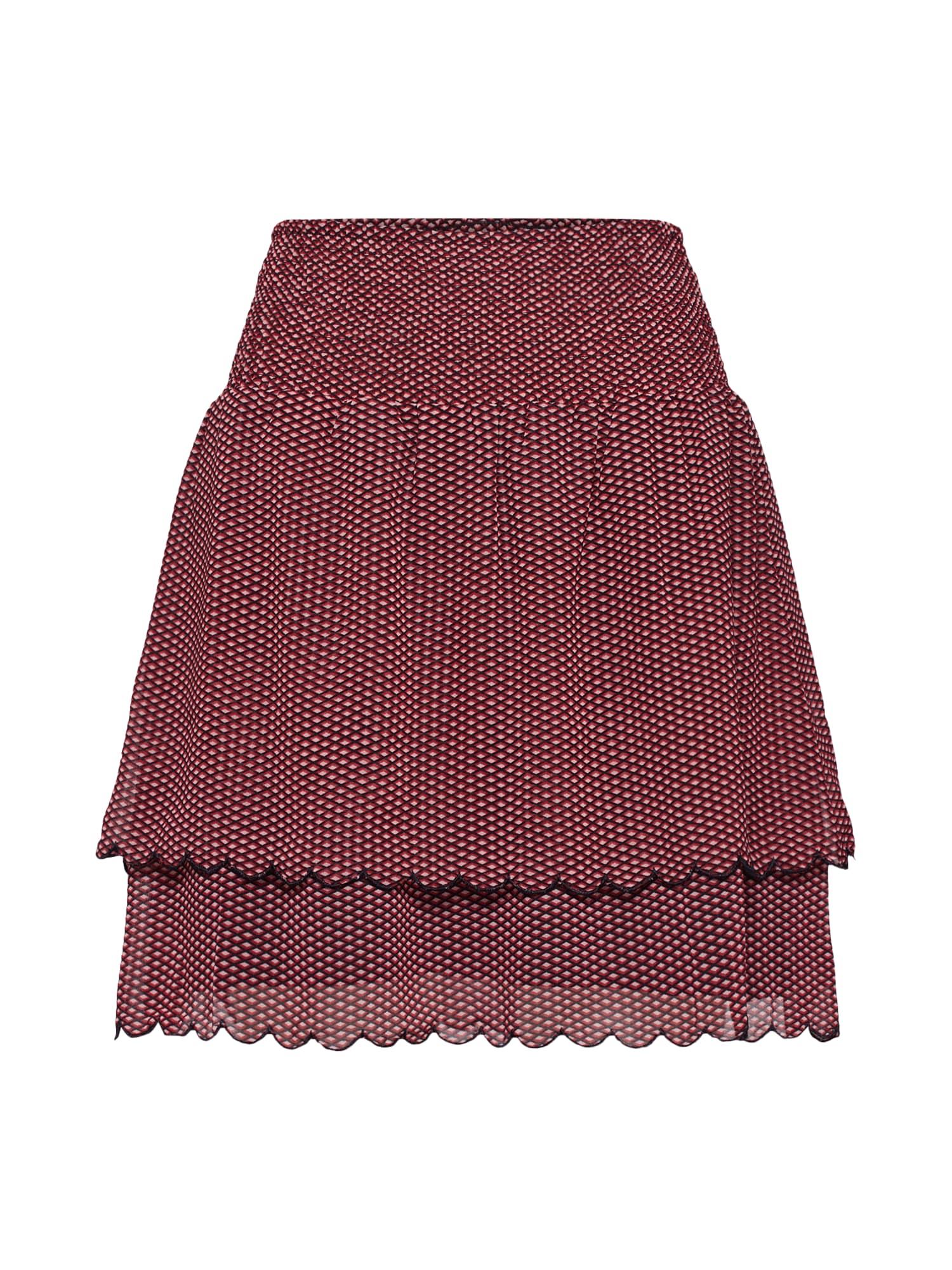SECOND FEMALE Sukňa 'Tiny Mini Skirt'  červená / čierna