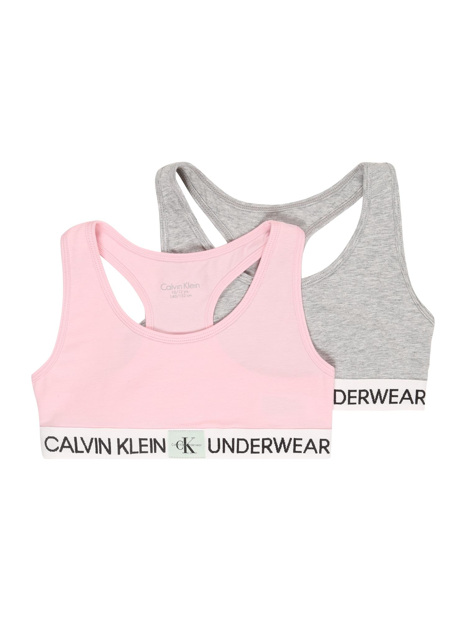 Calvin Klein Underwear Liemenėlė rožių spalva / margai pilka