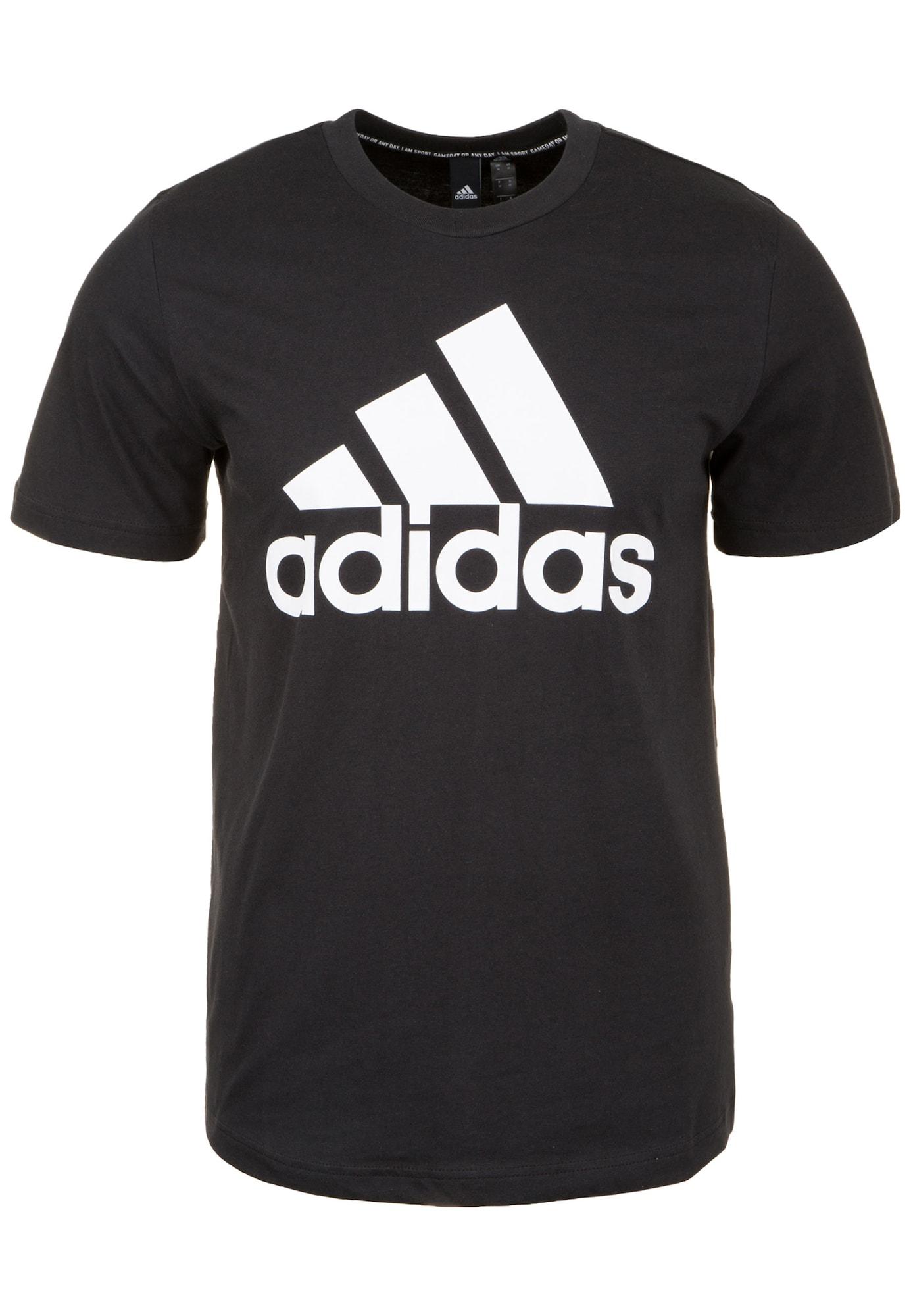 ADIDAS PERFORMANCE Sportiniai marškinėliai 'Must Haves Badge of Sport' juoda