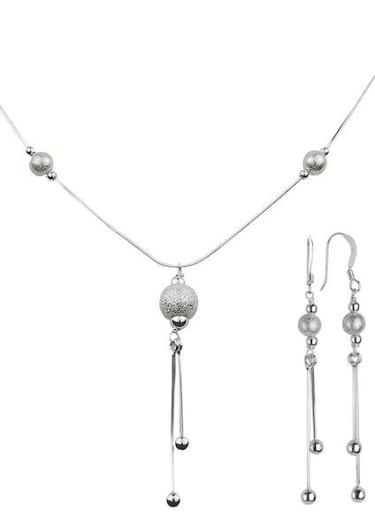 Schmucksets für Frauen - FIRETTI Ohrschmuck und Halskette (3tlg.) silber  - Onlineshop ABOUT YOU