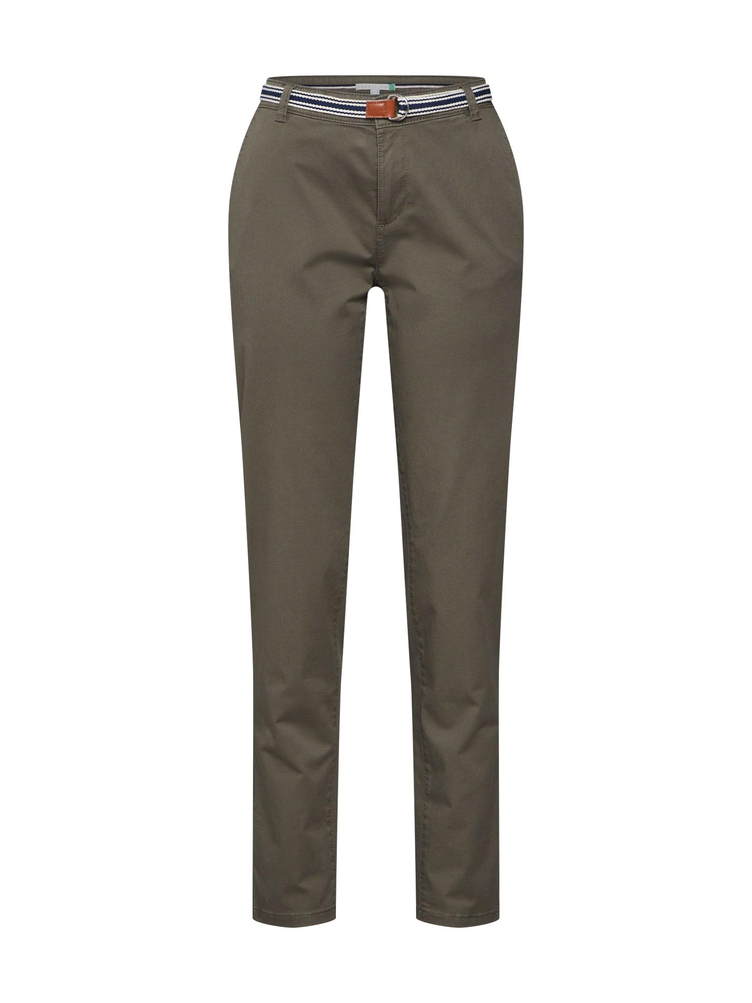 Chino kalhoty olivová ESPRIT