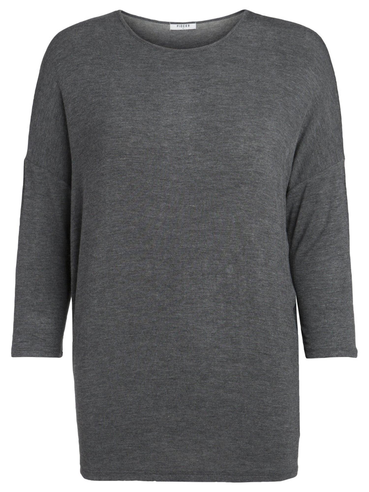 Oversized tričko PCMUSTHAVE NOOS tmavě šedá PIECES
