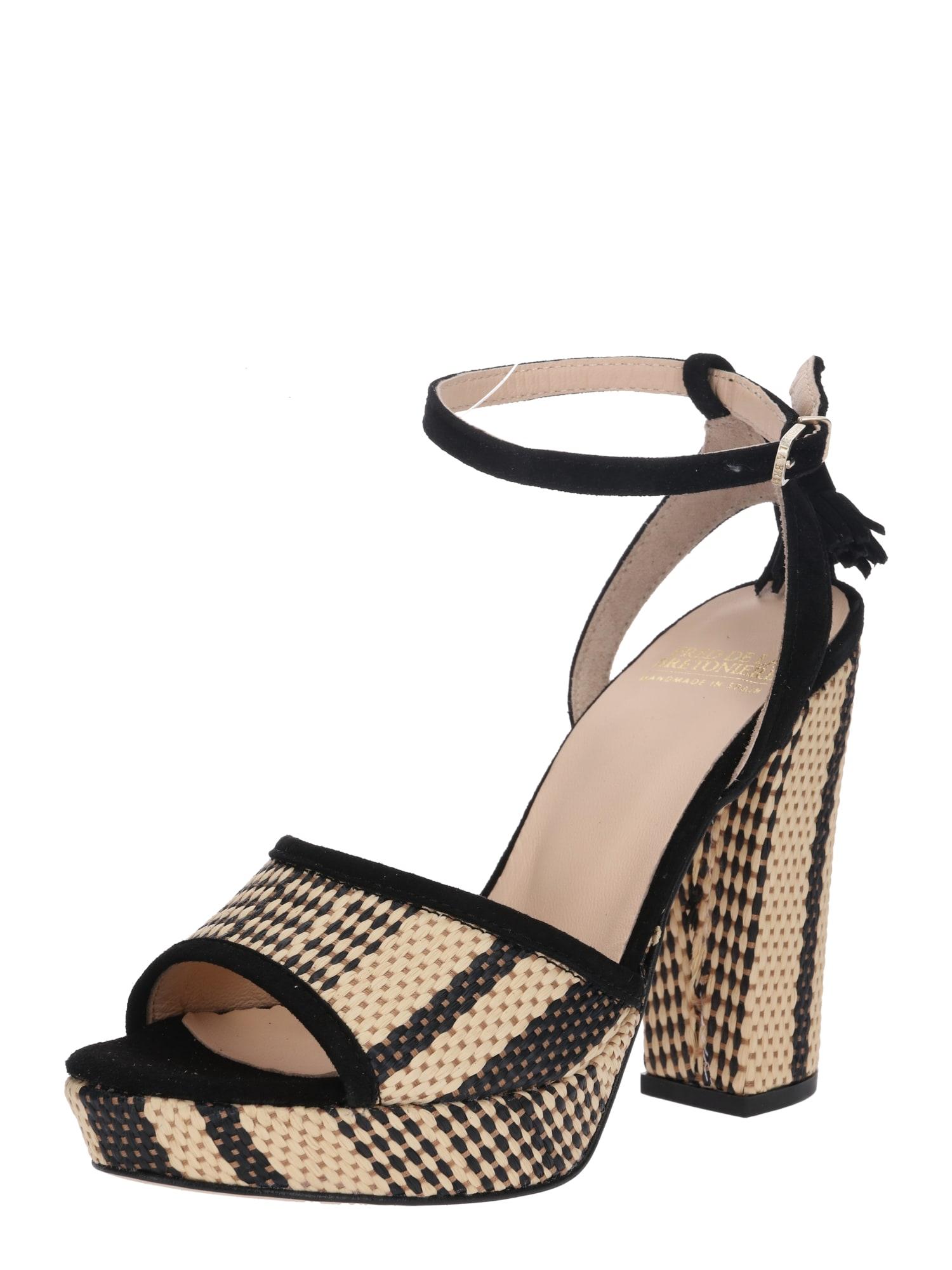 Páskové sandály béžová černá Fred De La BretoniÈre