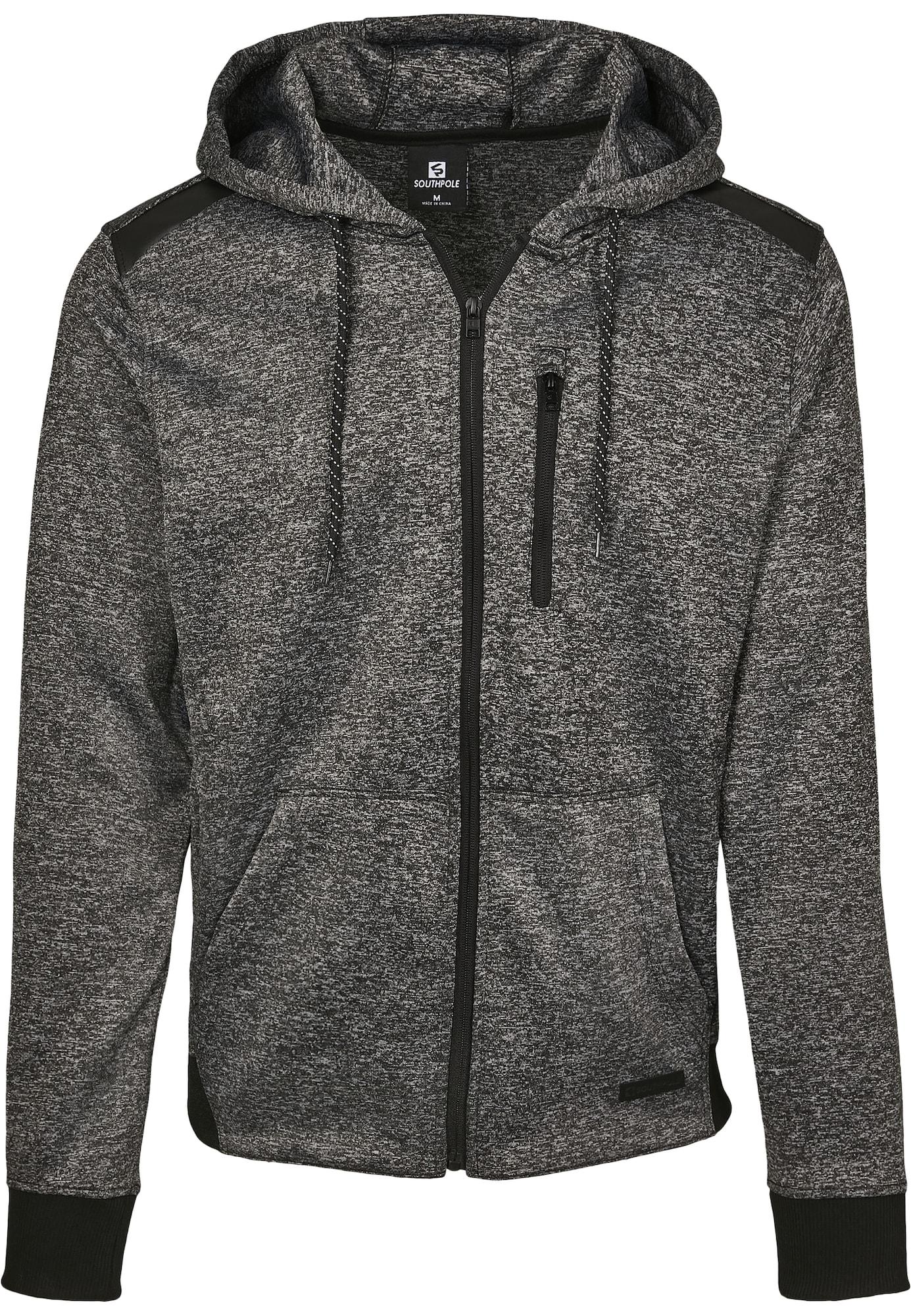SOUTHPOLE Džemperis margai juoda / juoda