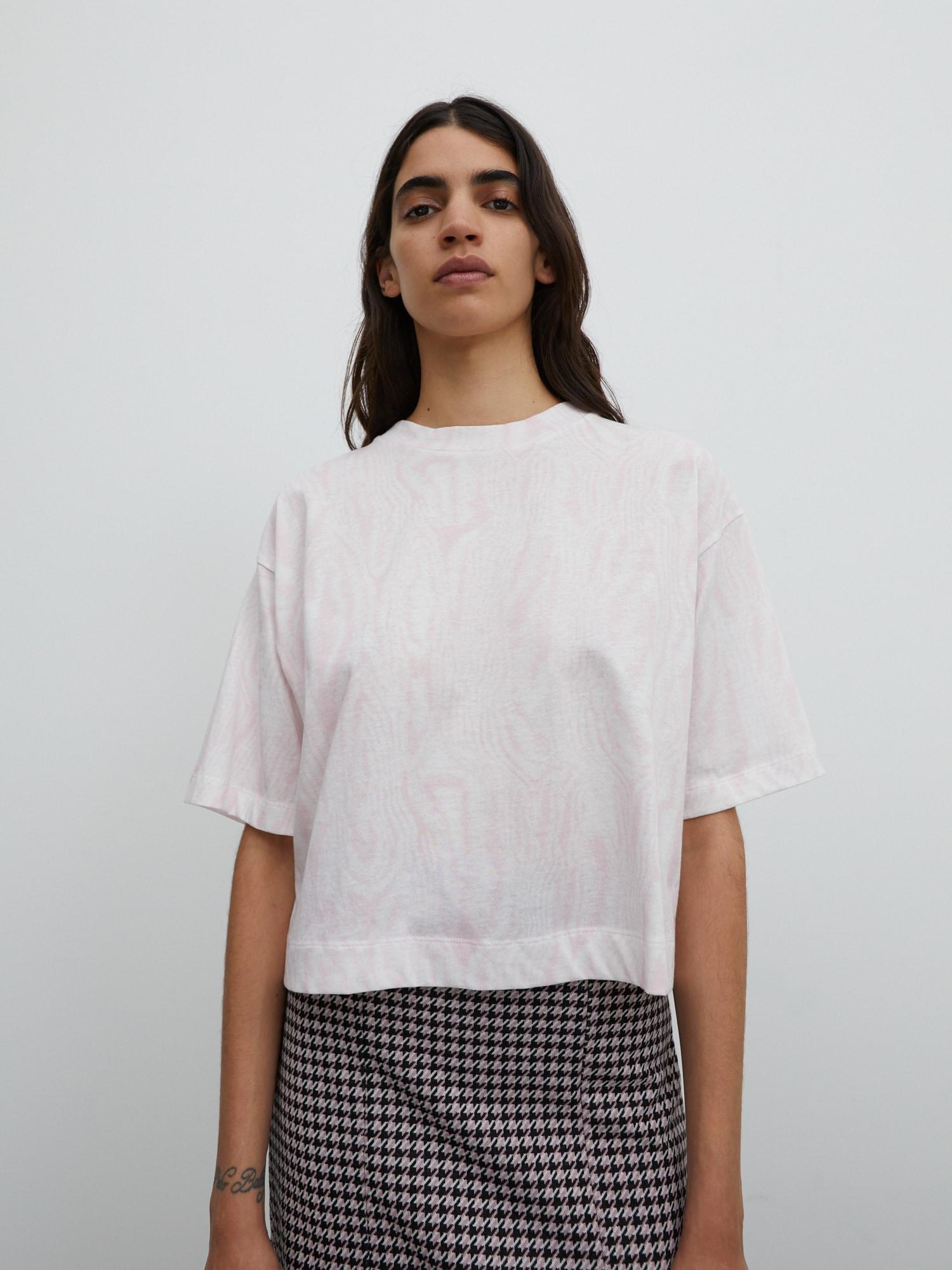 EDITED Marškinėliai 'Sila' balta / rožinė