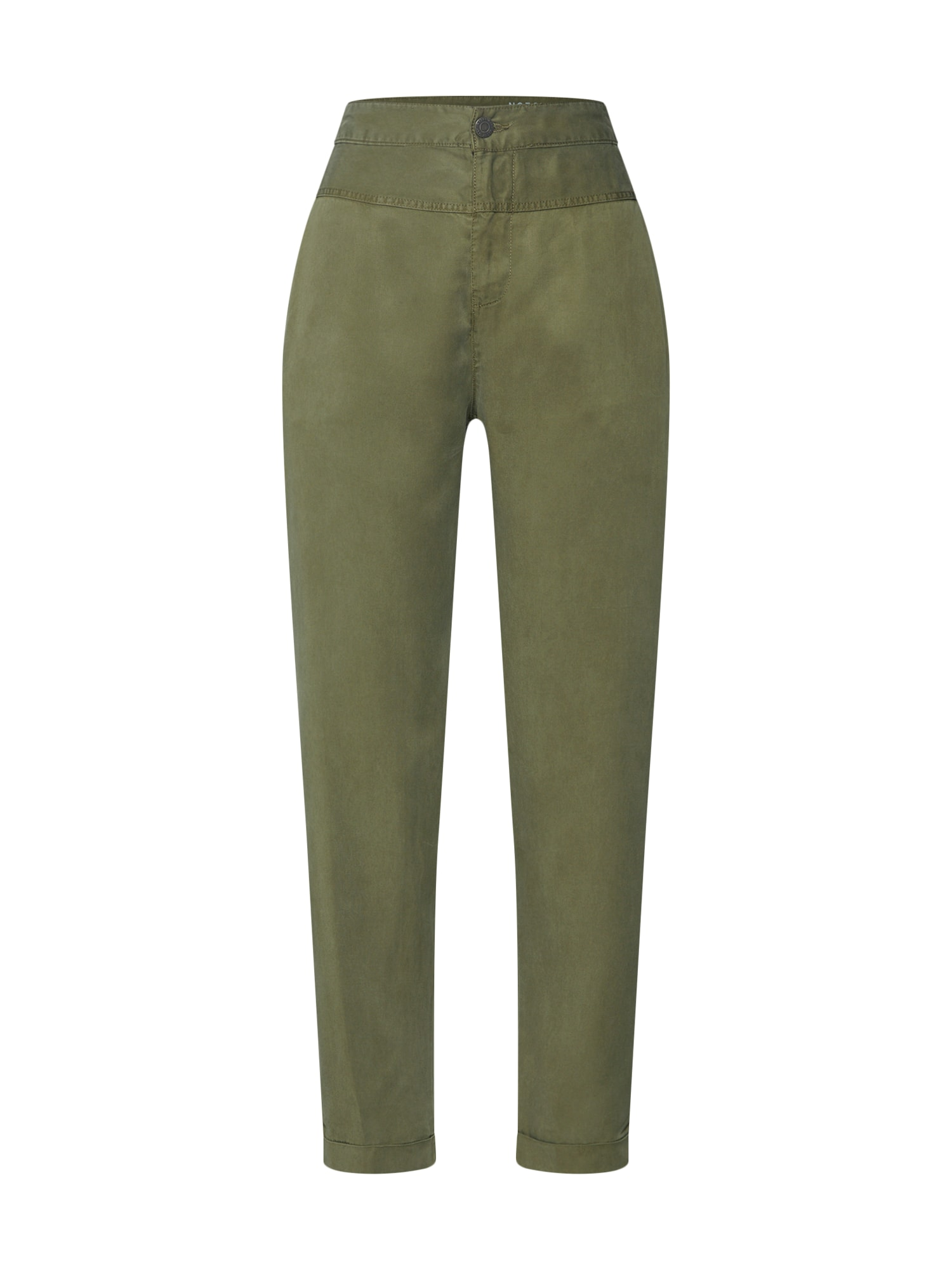 Chino kalhoty NMMIRA NW TENCEL CHINOS 3 olivová Noisy May