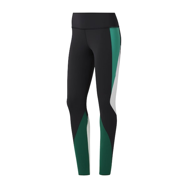 Hosen für Frauen - Sportleggings 'Lux Tights 2.0' › Reebok › petrol schwarz weiß  - Onlineshop ABOUT YOU