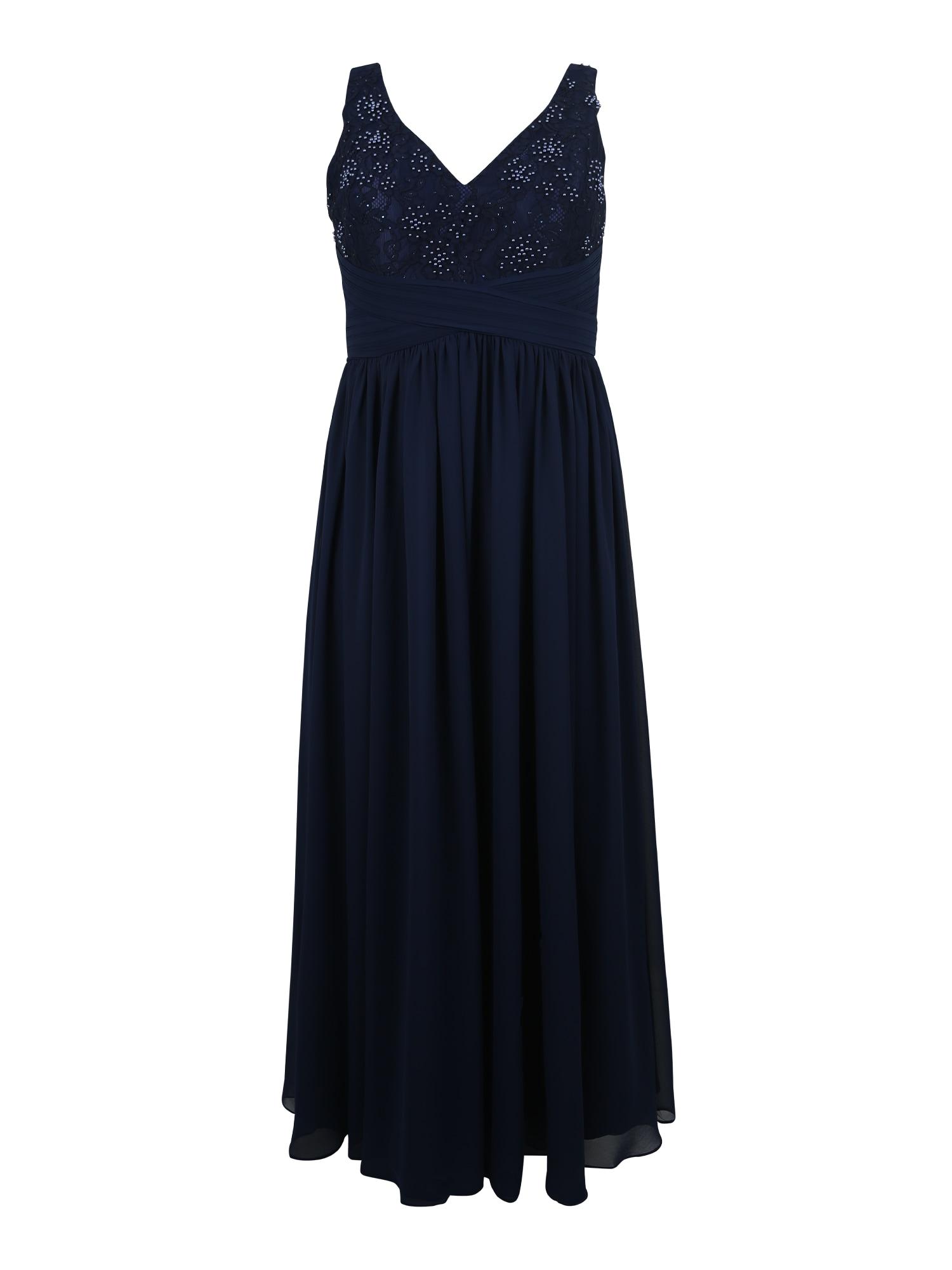 Společenské šaty LACE WAIST námořnická modř My Mascara Curves