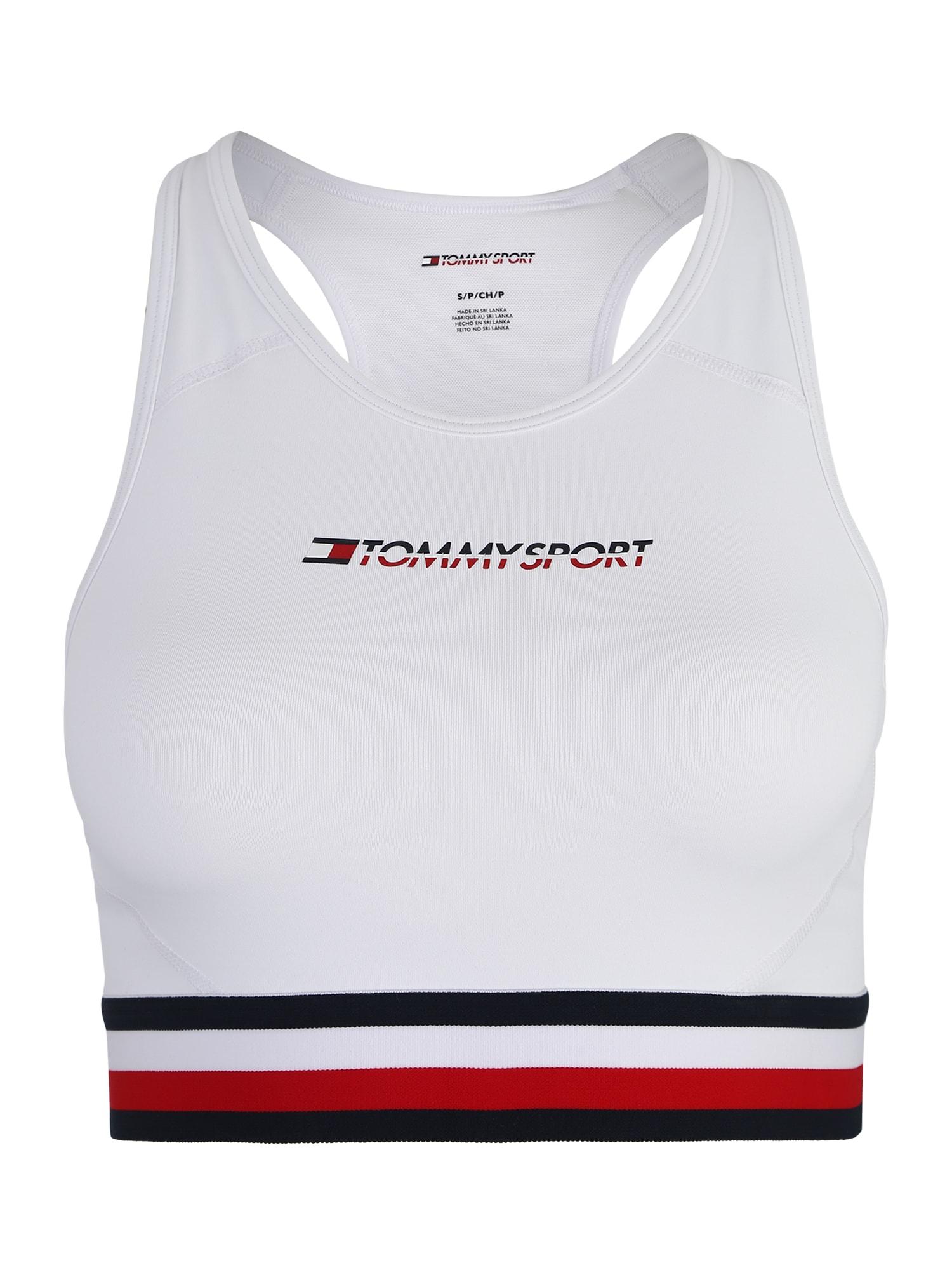 Sportovní podprsenka červená bílá Tommy Sport