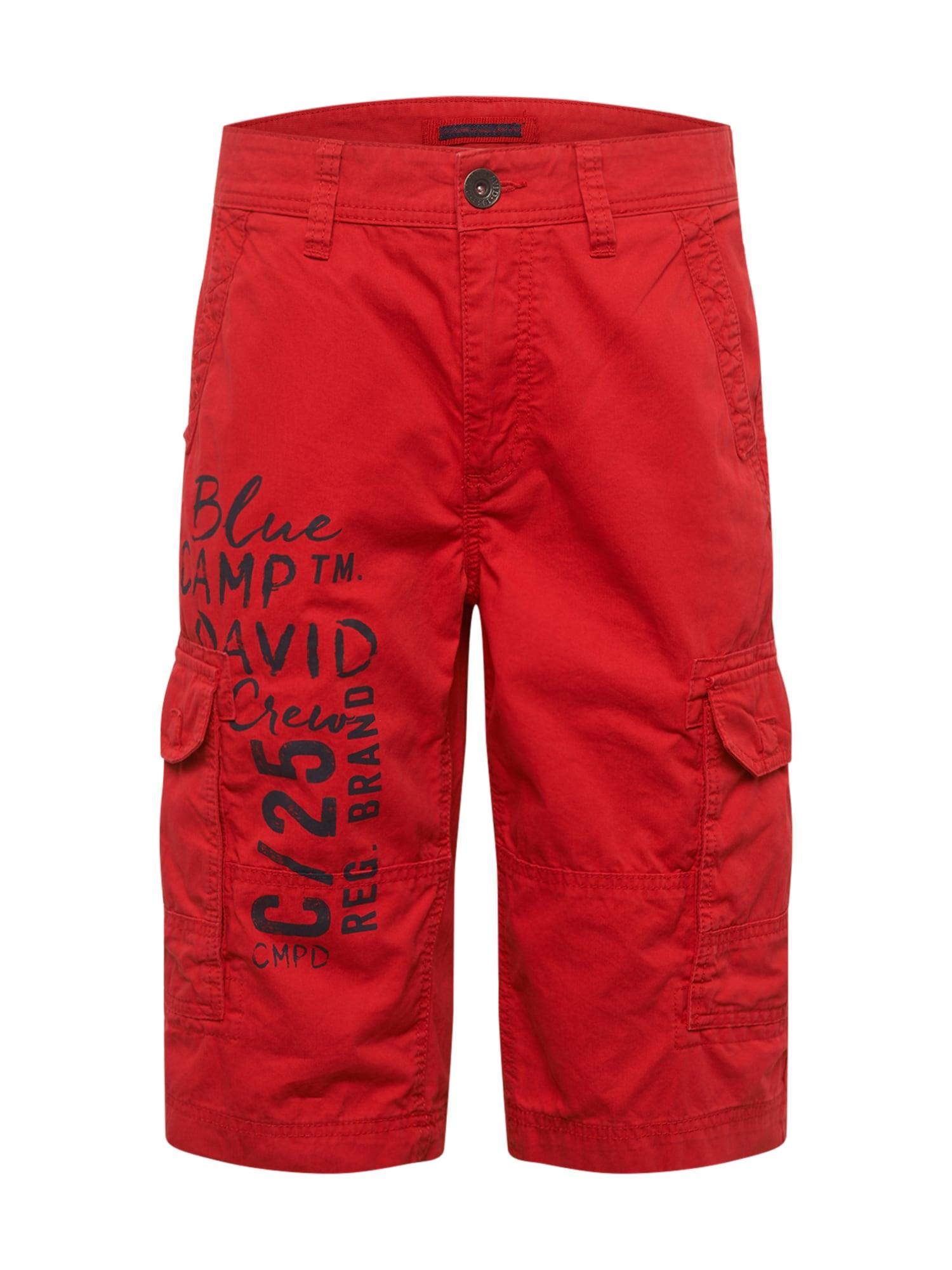 CAMP DAVID Laisvo stiliaus kelnės raudona