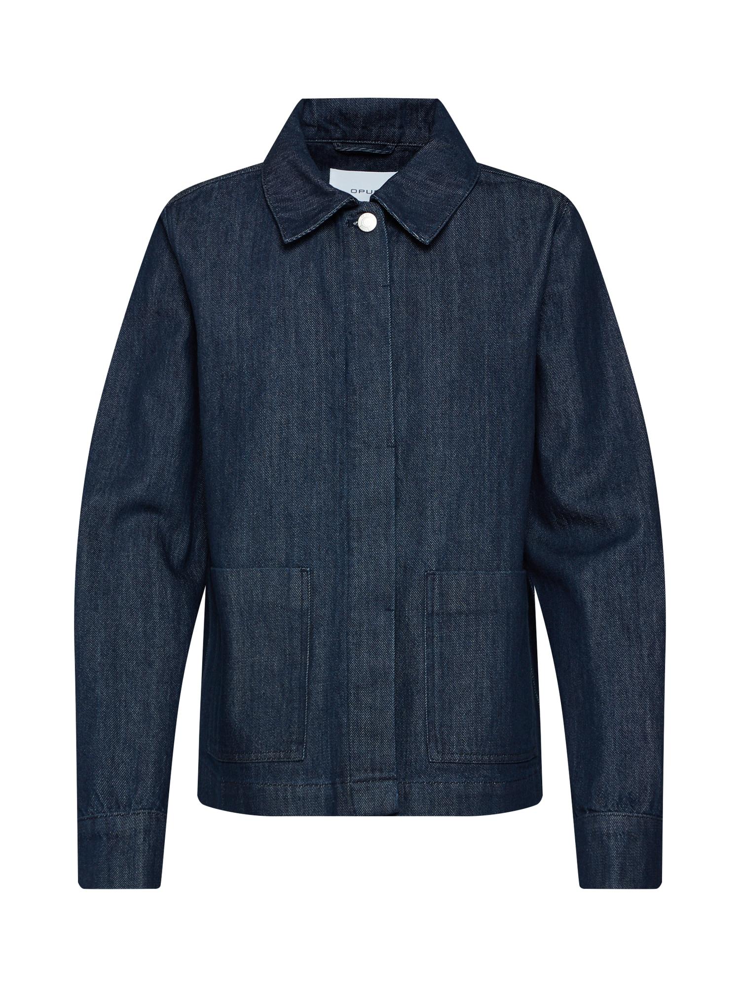 Přechodná bunda Hakima modrá džínovina tmavě modrá OPUS