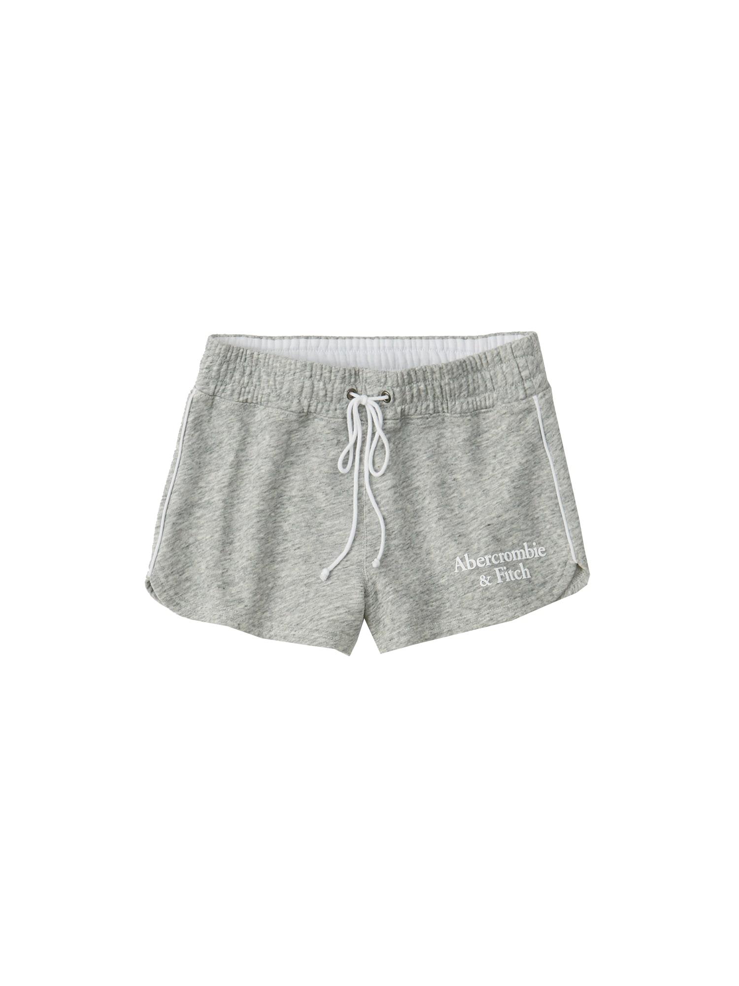 Kalhoty SB19-CURVED HEM DOORBUSTER šedá Abercrombie & Fitch
