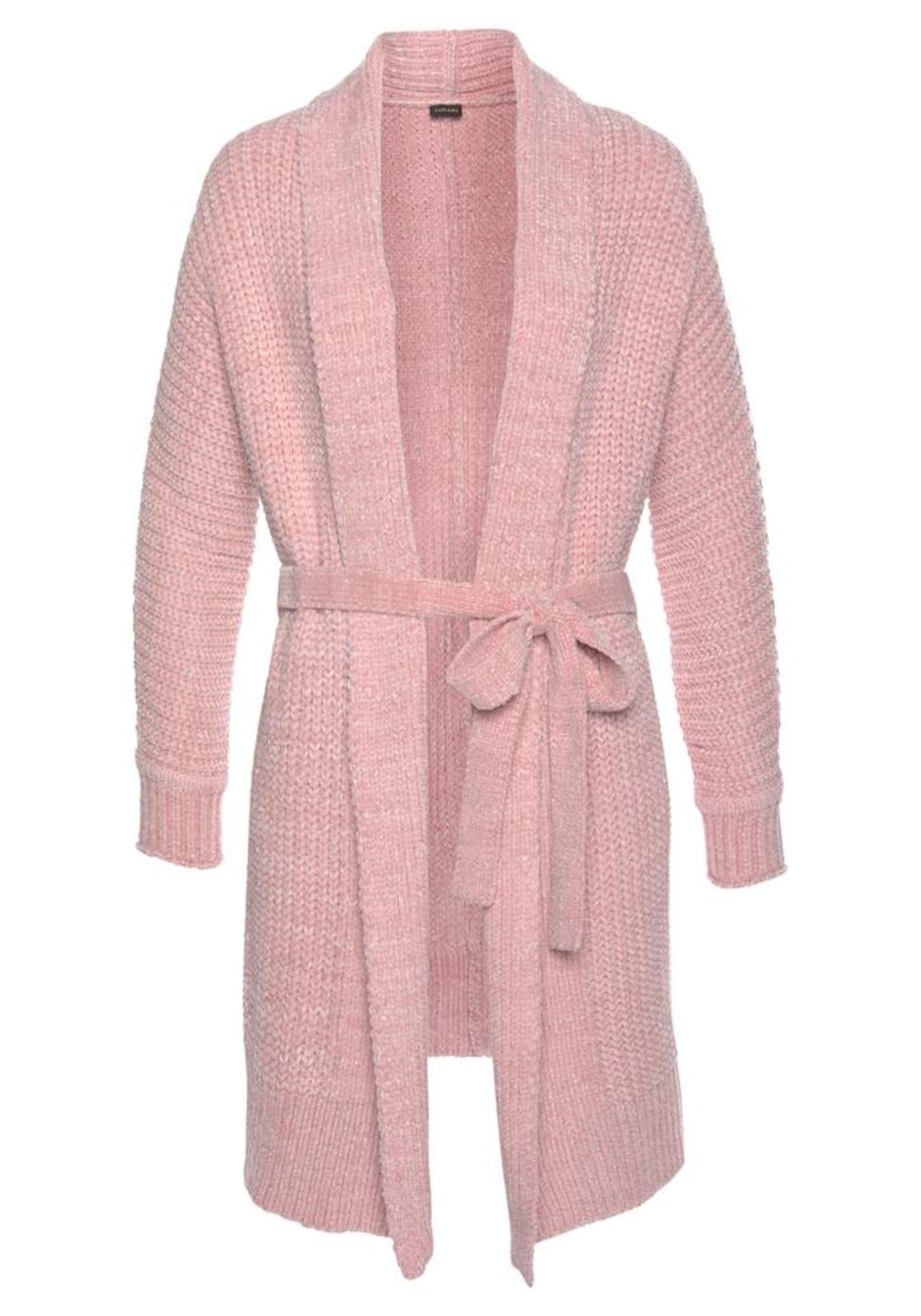 LASCANA Ilgas vonios chalatas ryškiai rožinė spalva