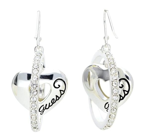 Ohrringe für Frauen - GUESS Ohrhänger 'Ube11140l' schilf schwarz silber  - Onlineshop ABOUT YOU