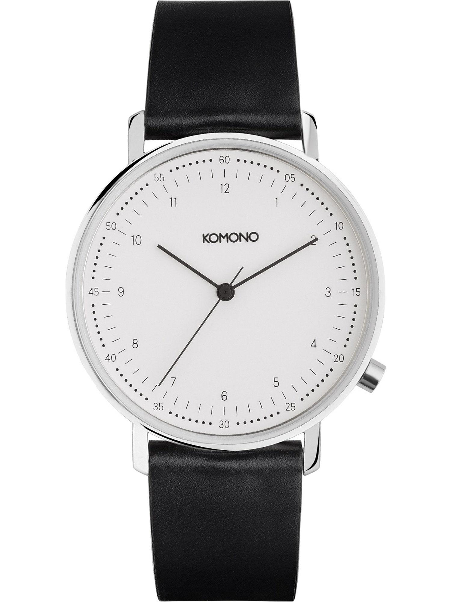 Analogové hodinky Lewis černá bílá Komono