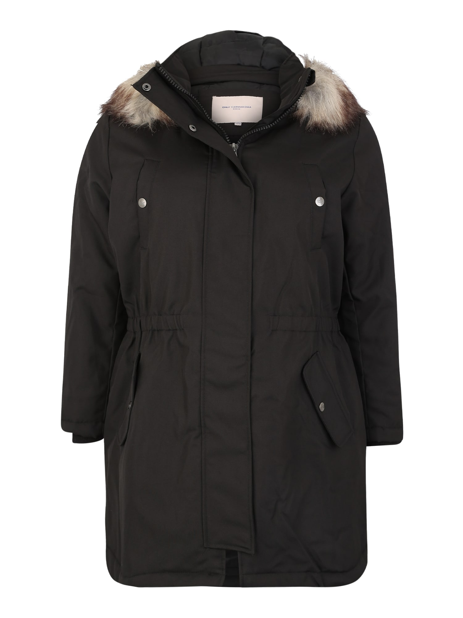 ONLY Carmakoma Žieminis paltas 'carIRENA PARKA COAT 19' juoda