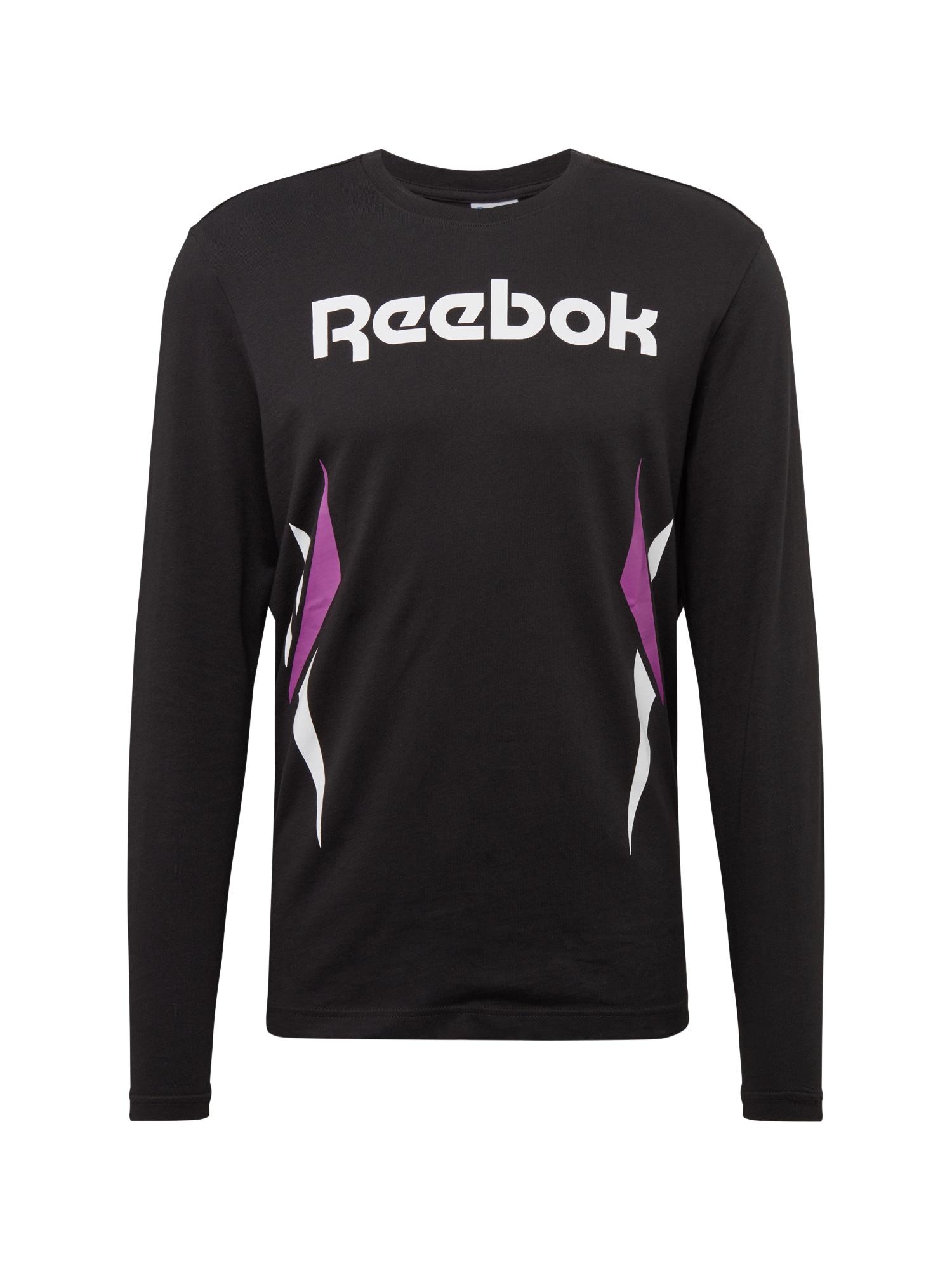 Tričko fialová černá bílá Reebok Classic