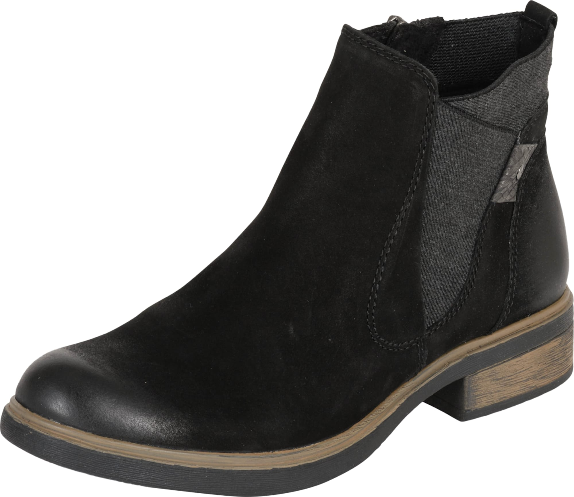 tamaris chelsea boots in schwarz. Black Bedroom Furniture Sets. Home Design Ideas