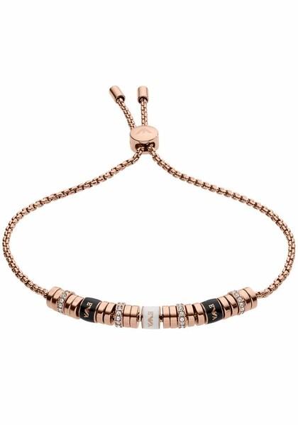 Armbaender für Frauen - Emporio Armani Armband 'EGS2418221' rosegold schwarz  - Onlineshop ABOUT YOU
