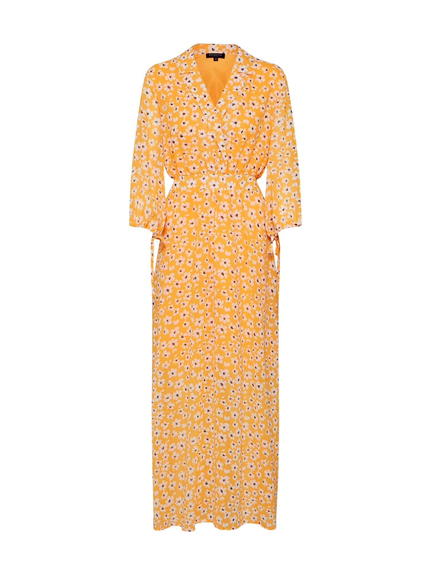 Šaty zlatě žlutá SELECTED FEMME