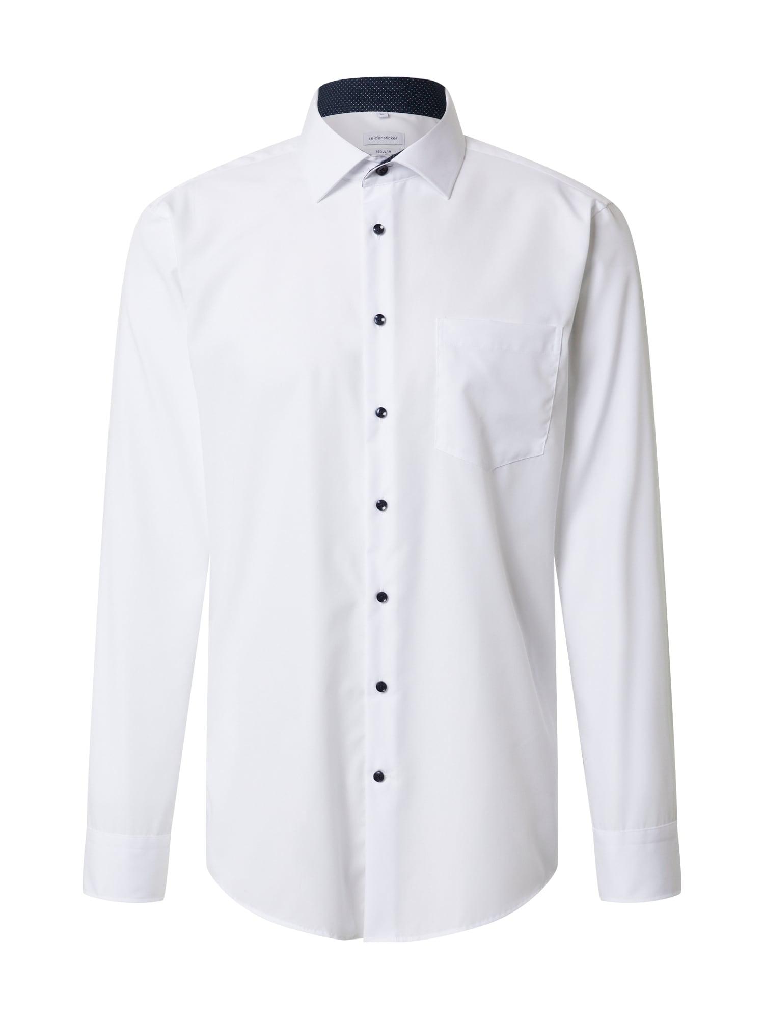 SEIDENSTICKER Společenská košile 'Business Kent'  černá / bílá