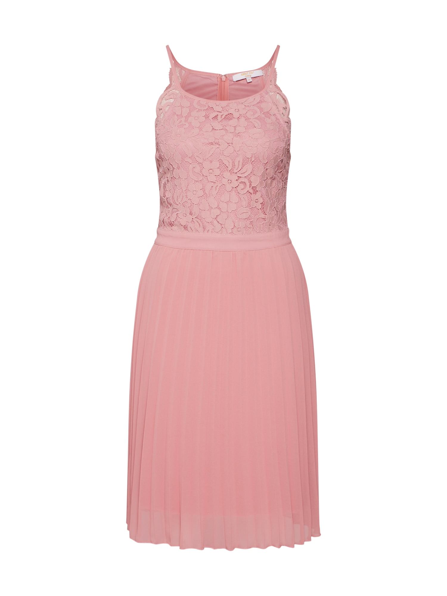 ABOUT YOU Kokteilinė suknelė 'Grace' rožių spalva