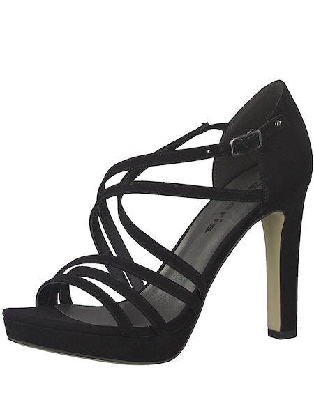 Highheels - Sandale 'Strappy Heel' › tamaris › schwarz  - Onlineshop ABOUT YOU