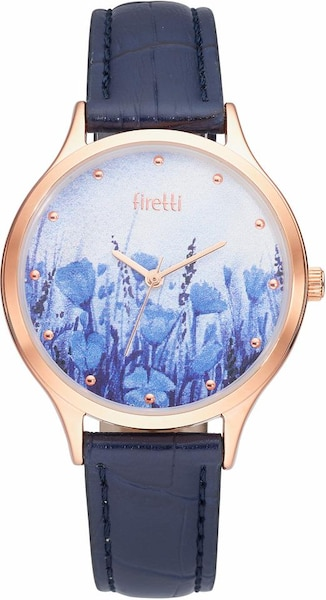 Uhren für Frauen - FIRETTI Quarzuhr dunkelblau rosegold  - Onlineshop ABOUT YOU