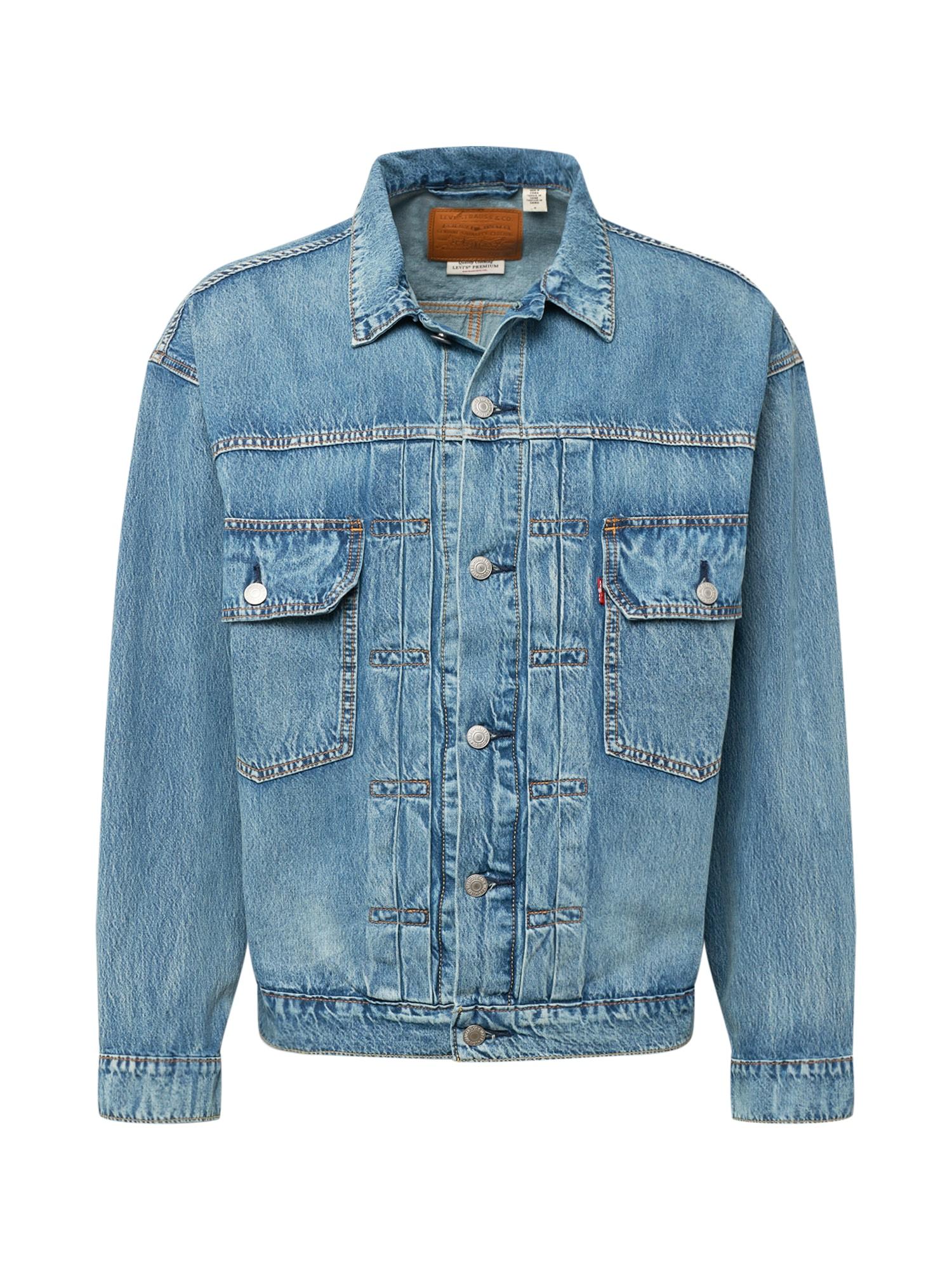 LEVI'S Demisezoninė striukė 'TRUCKER' tamsiai (džinso) mėlyna