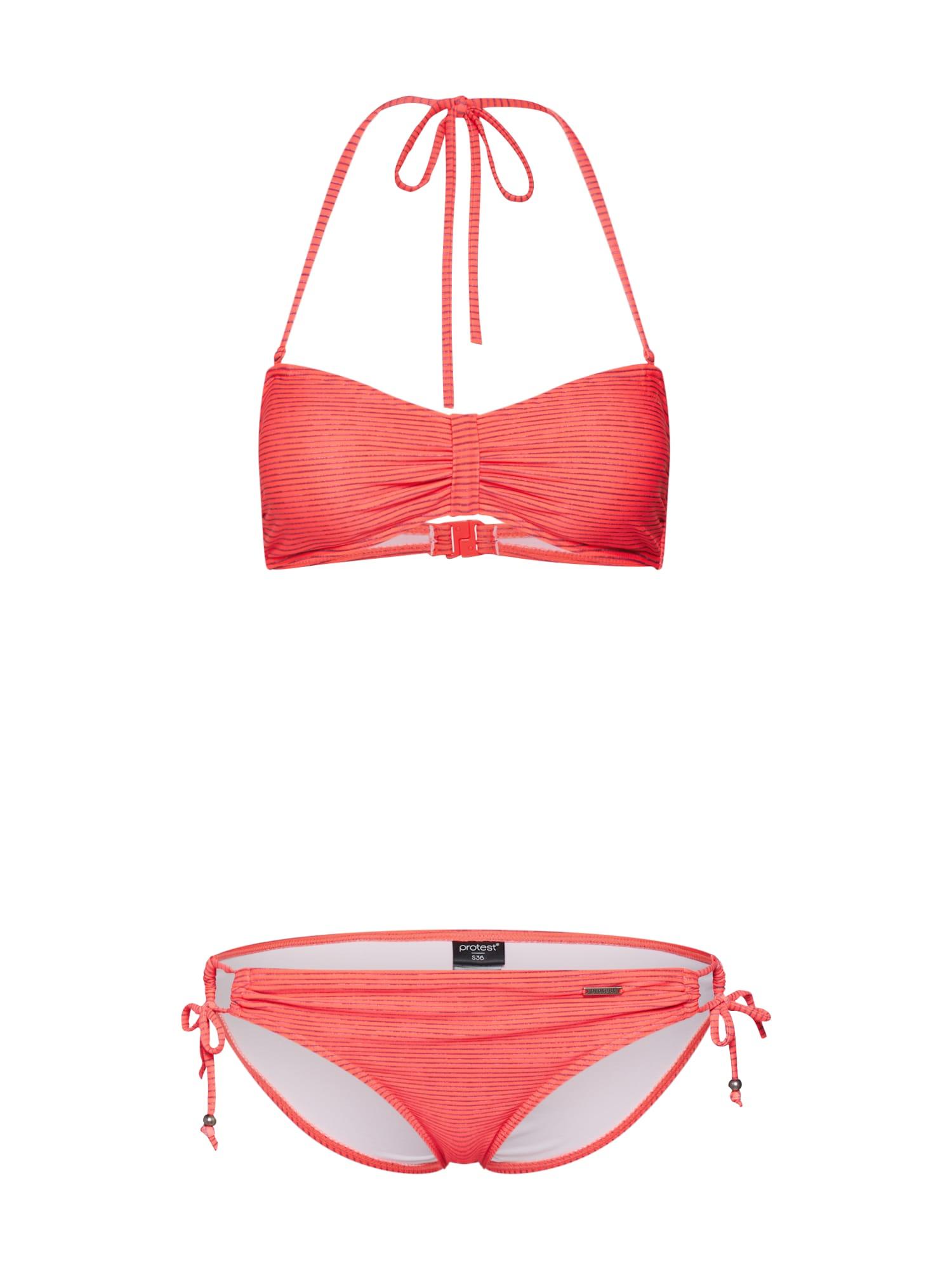 Bikiny BARBERA 19 bandeau bikini oranžová PROTEST
