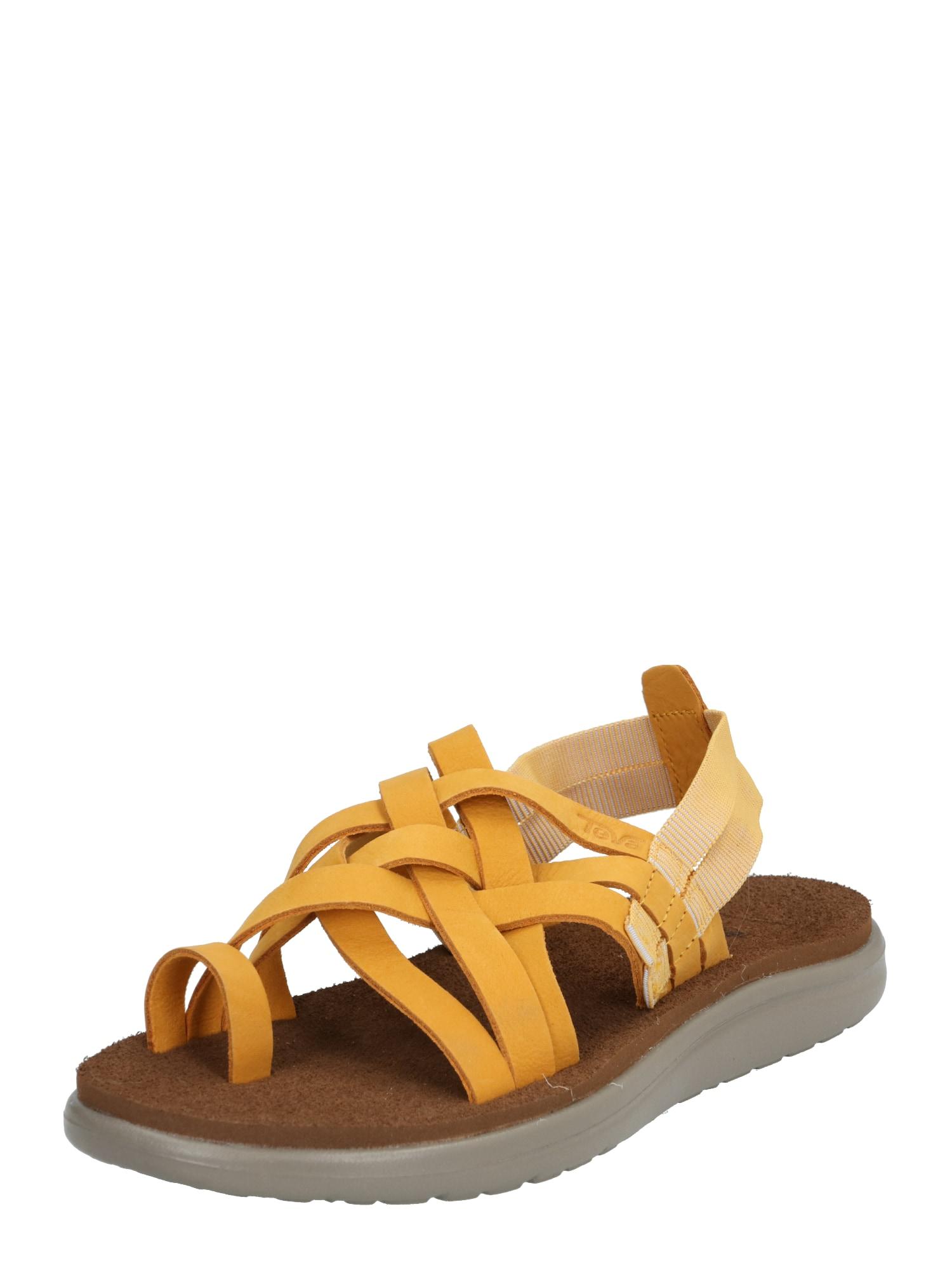 TEVA Sandalai geltona