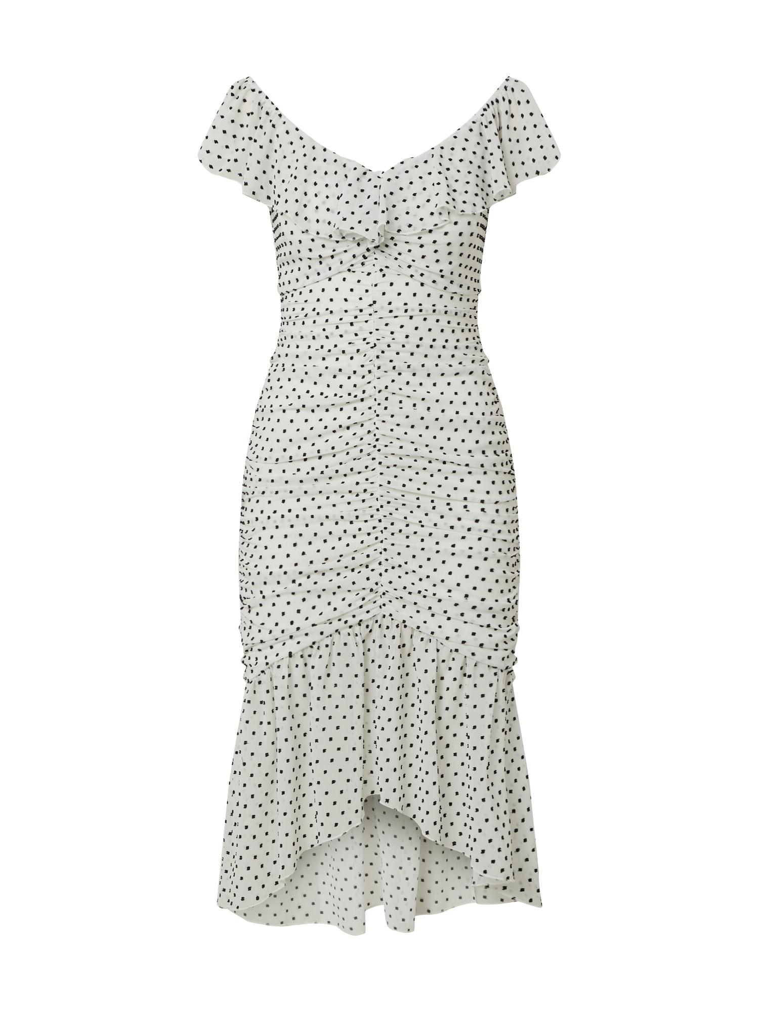 Miss Selfridge Kokteilinė suknelė balta / juoda