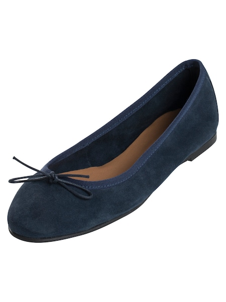 Ballerinas für Frauen - Lederballerinas › PIECES › navy  - Onlineshop ABOUT YOU